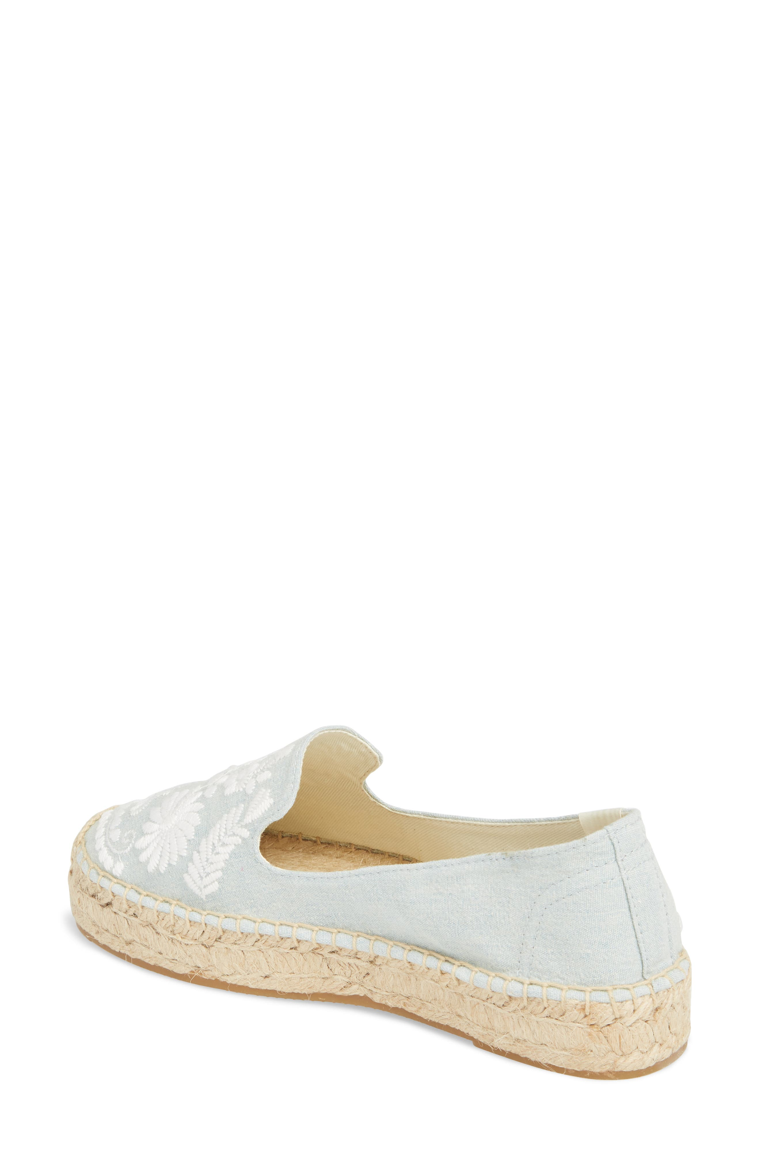 Ibiza Embroidered Loafer Espadrille,                             Alternate thumbnail 2, color,                             CHAMBRAY