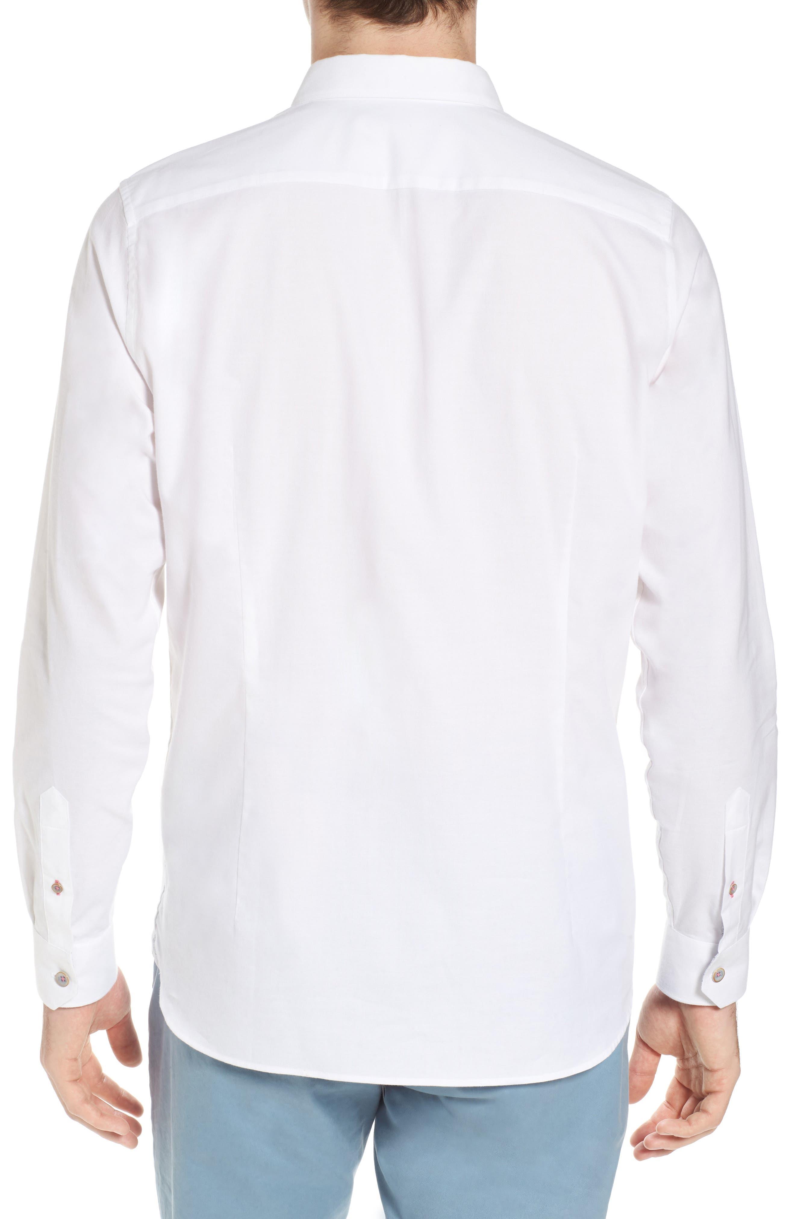 Slim Fit Textured Sport Shirt,                             Alternate thumbnail 7, color,