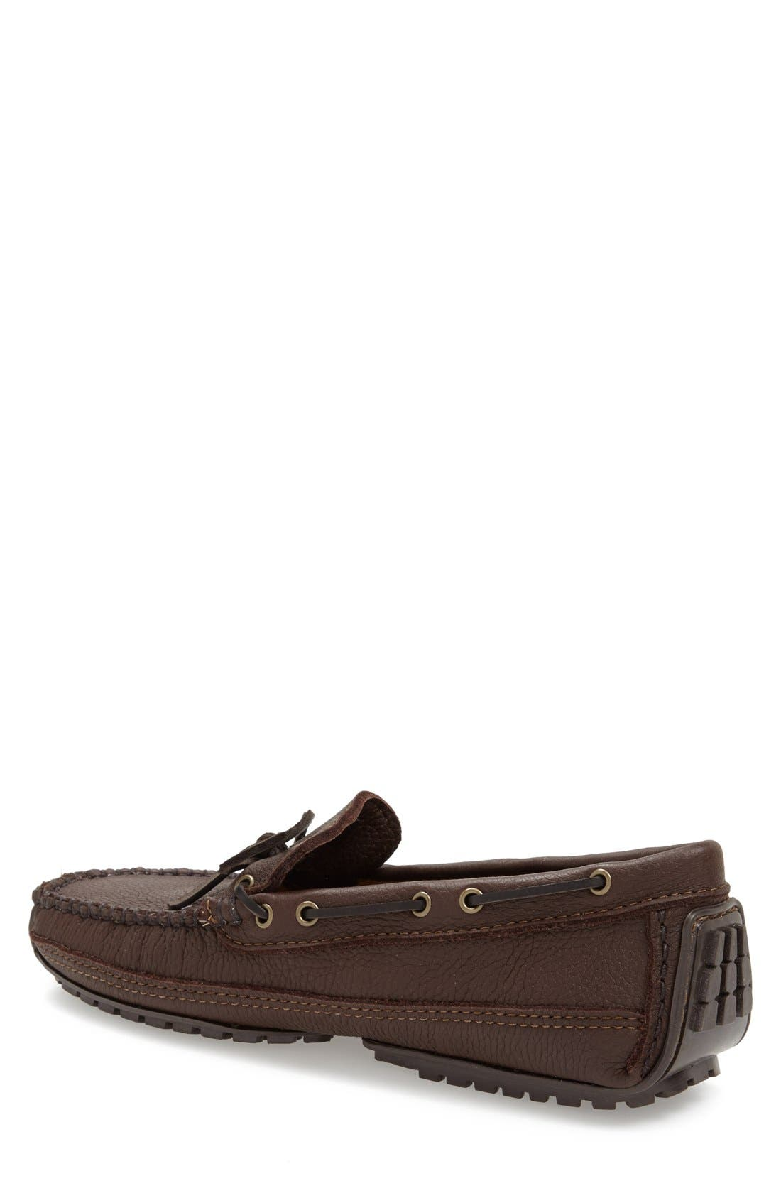 Moosehide Moccasin,                             Alternate thumbnail 4, color,                             CHOCOLATE