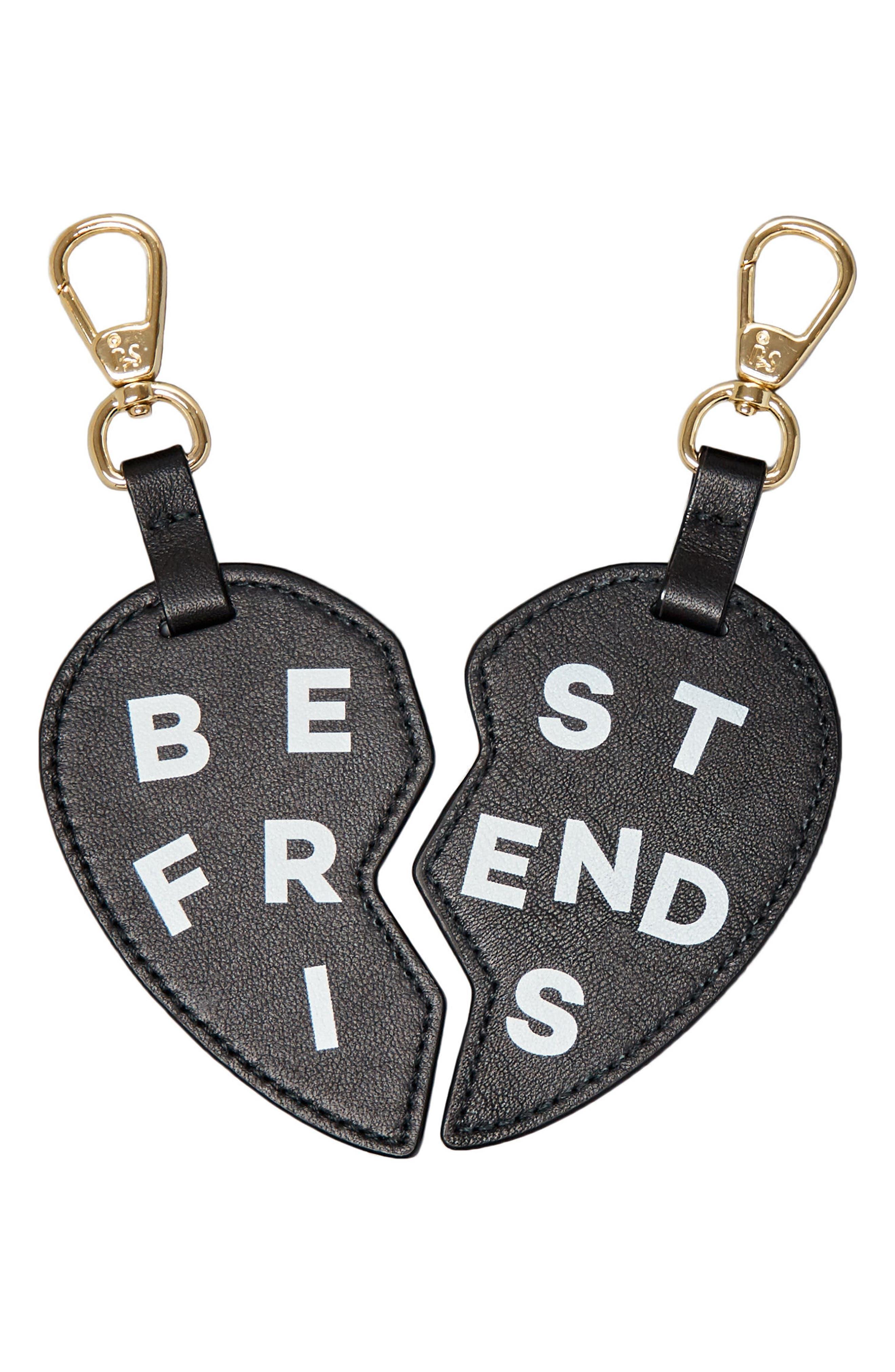 BFF Heart Bag Charms,                             Main thumbnail 1, color,                             001