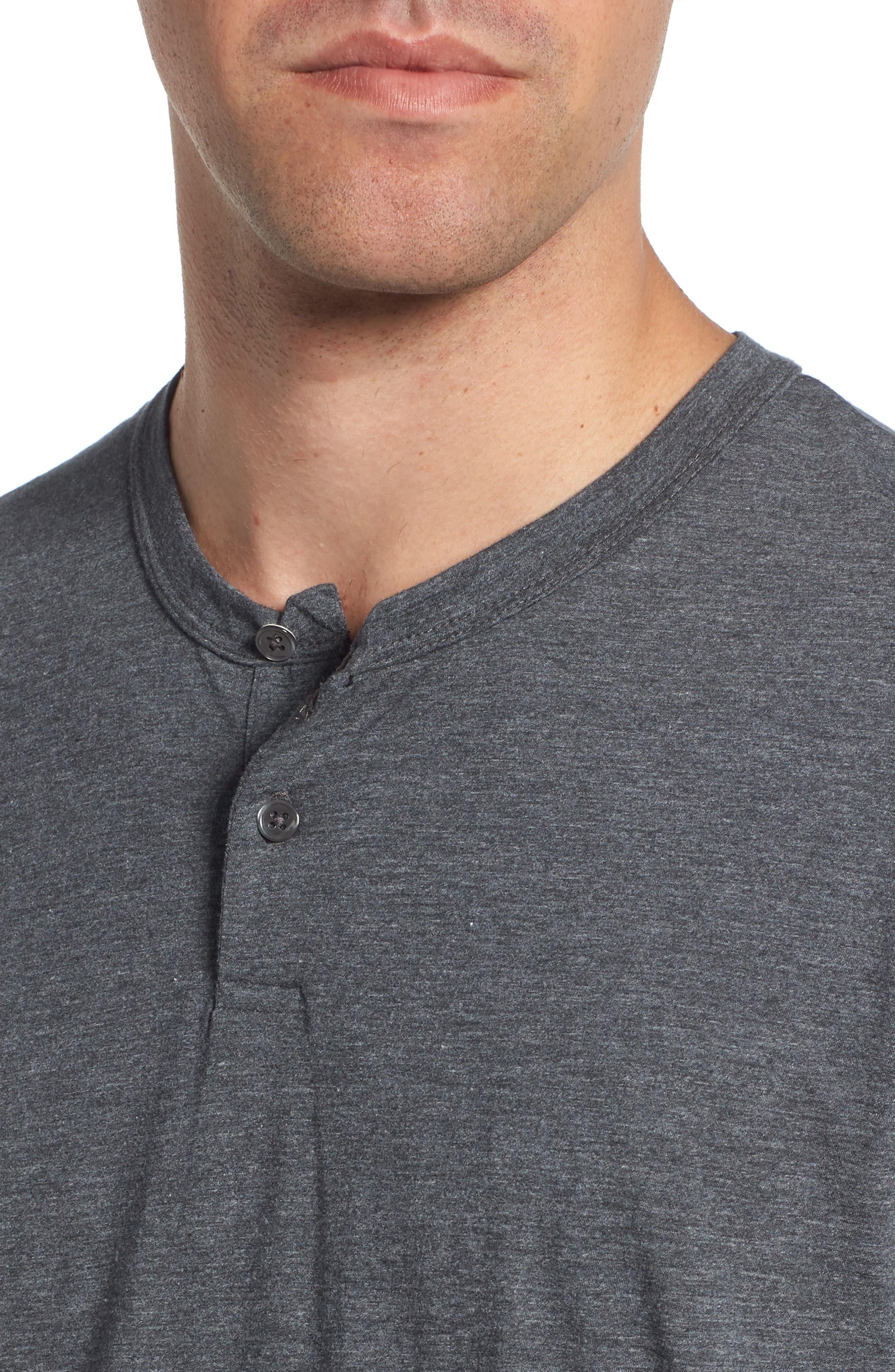 Cotton Blend Short Sleeve Henley,                             Alternate thumbnail 4, color,                             020