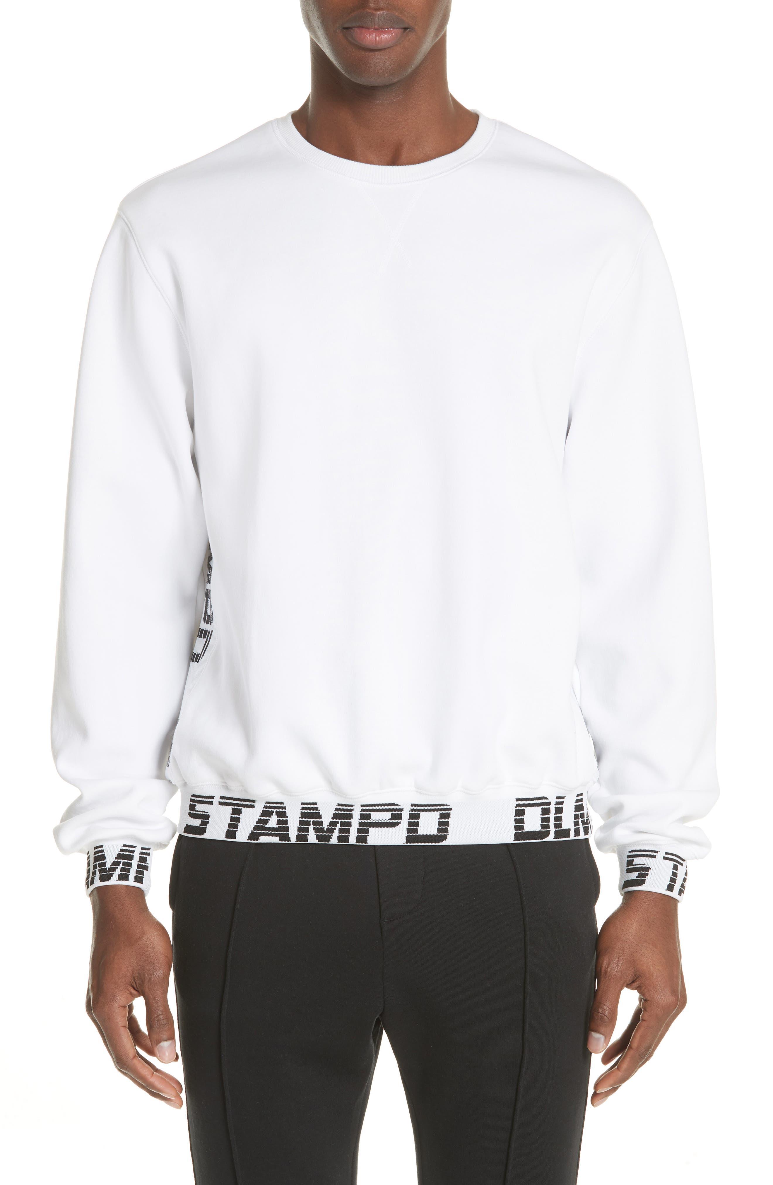 Driver Crewneck Sweatshirt,                         Main,                         color, WHITE