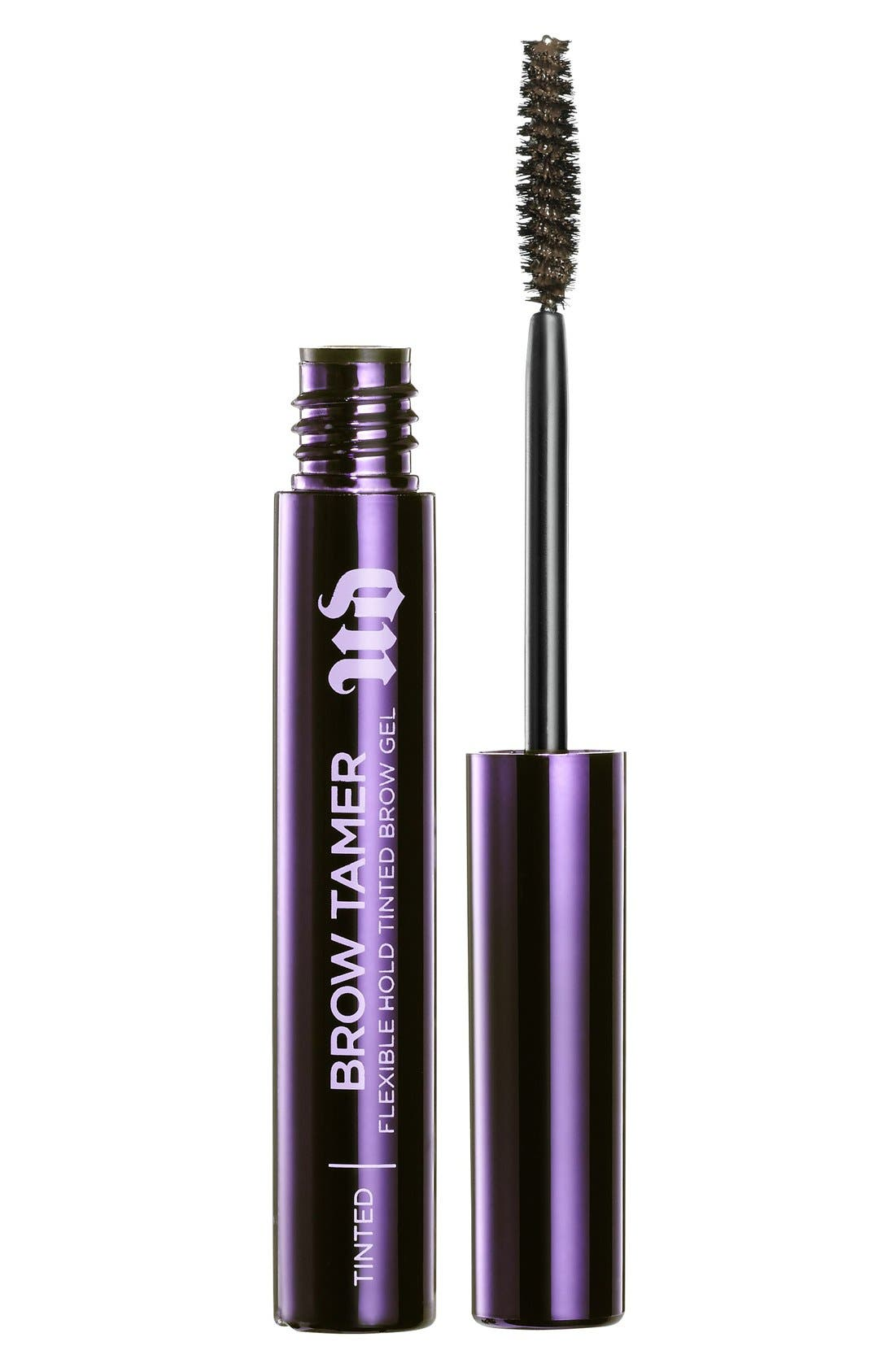 URBAN DECAY Brow Tamer Flexible Hold Brow Gel, Main, color, DARK BROWN