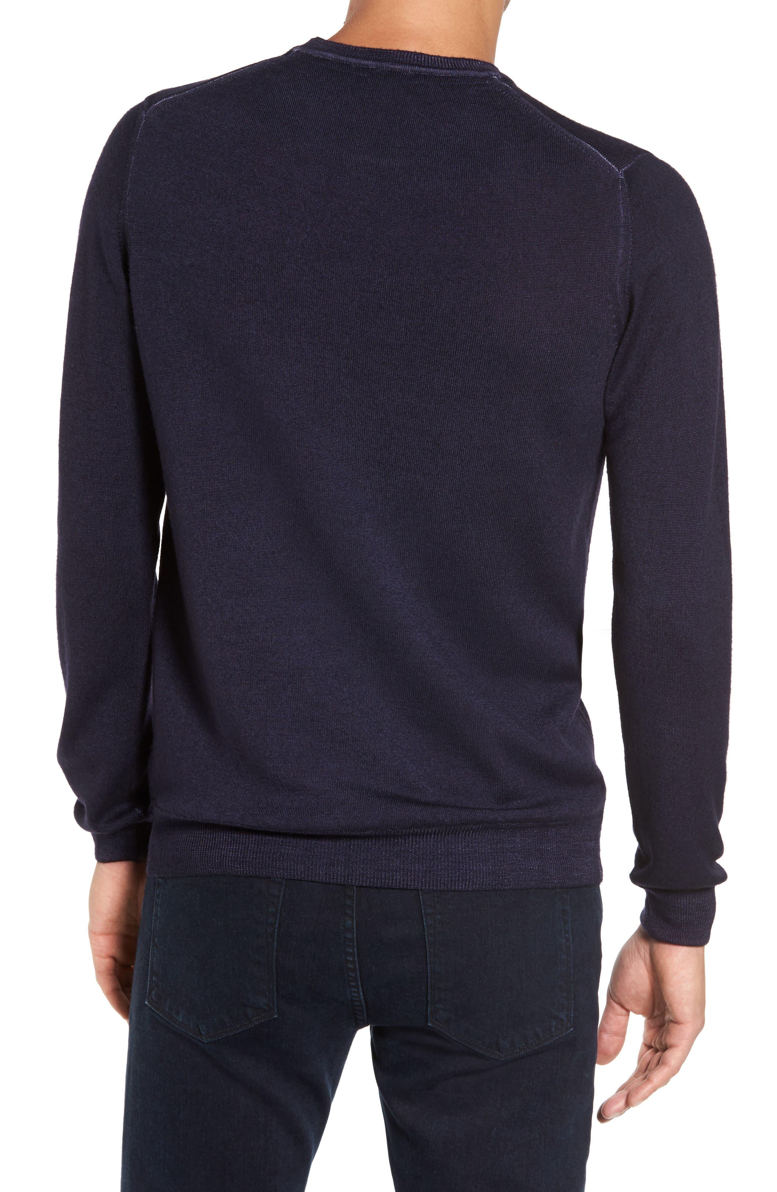 V-Neck Merino Wool Sweater,                             Alternate thumbnail 6, color,