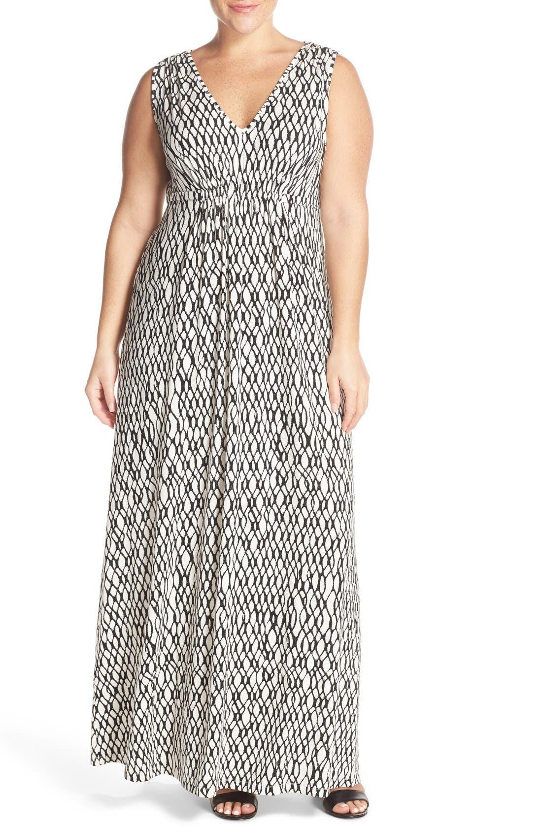 Grecia Sleeveless Jersey Maxi Dress,                             Main thumbnail 4, color,