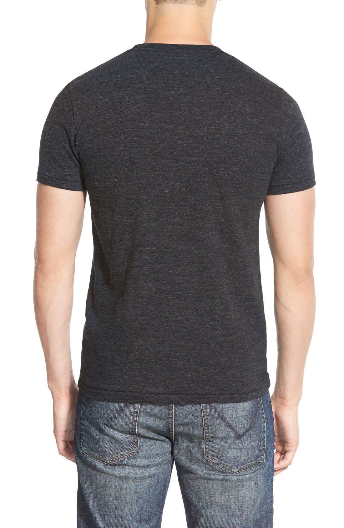 Double Face Jersey Pocket Crewneck T-Shirt,                             Alternate thumbnail 2, color,                             001