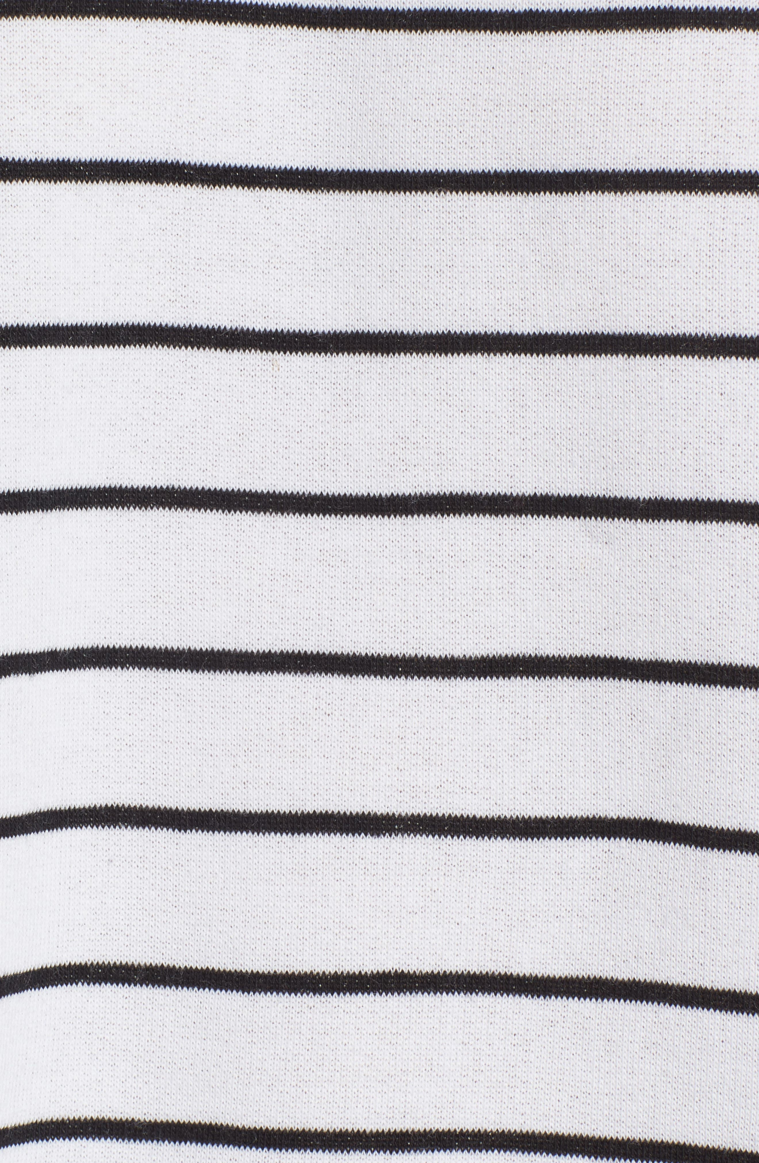 Drop Shoulder Stripe Sweater,                             Alternate thumbnail 5, color,                             001