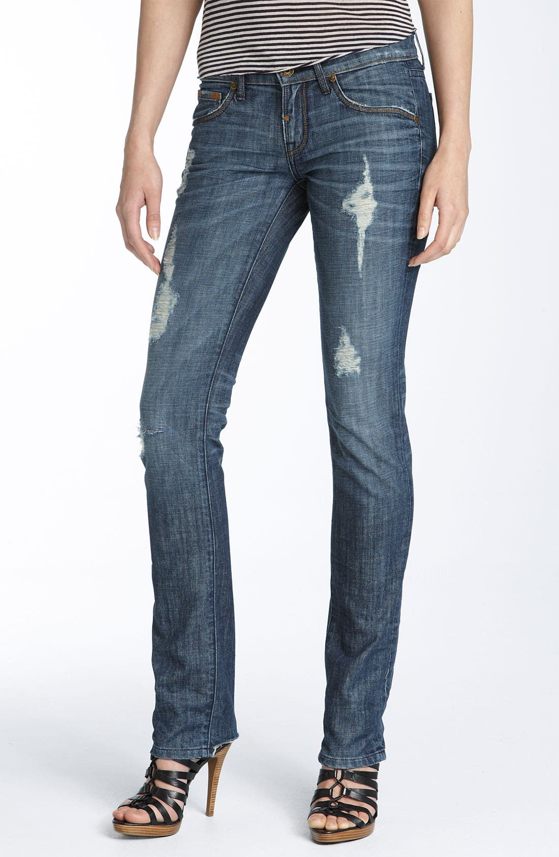 'Sterling' Straight Leg Stretch Jeans, Main, color, 403