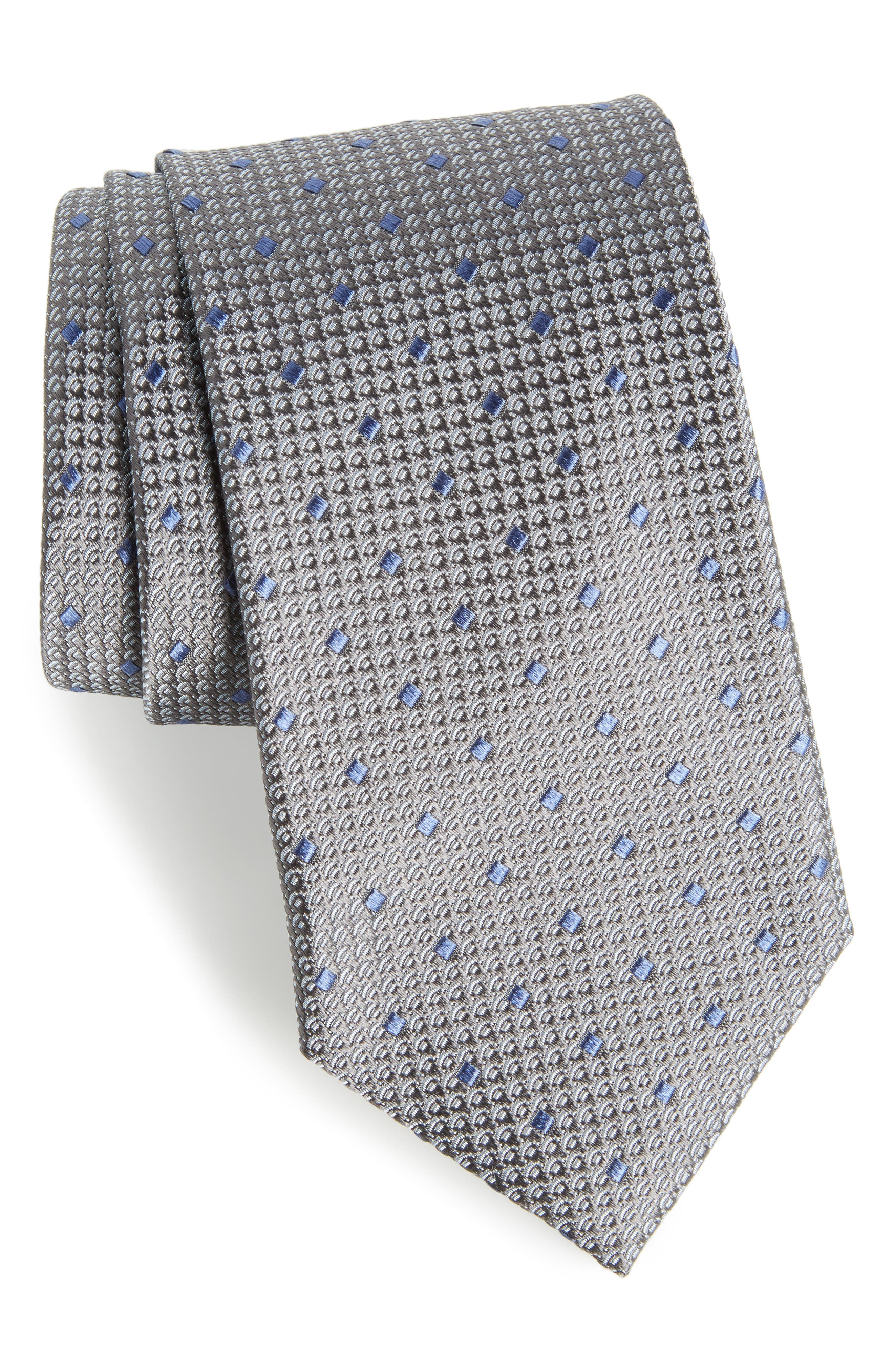 Contrada Dot Silk Tie,                         Main,                         color, 020