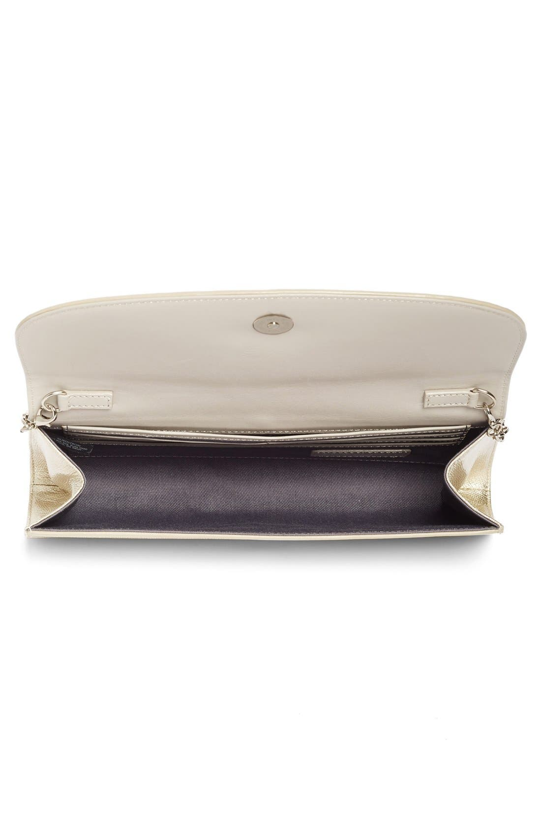 Leather Clutch,                             Alternate thumbnail 18, color,