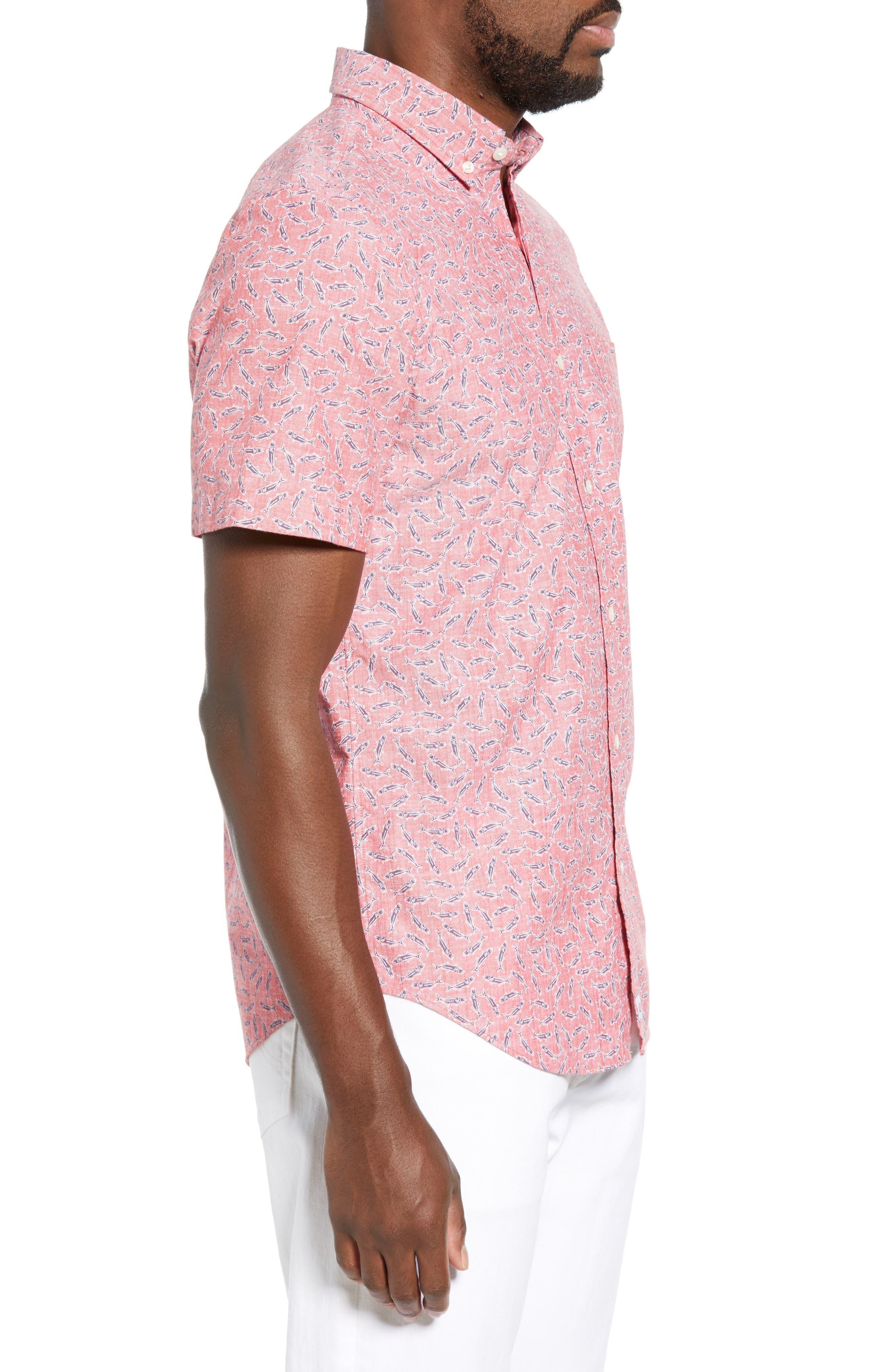VINEYARD VINES,                             Murray Slim Fit Sport Shirt,                             Alternate thumbnail 4, color,                             LOBSTER REEF
