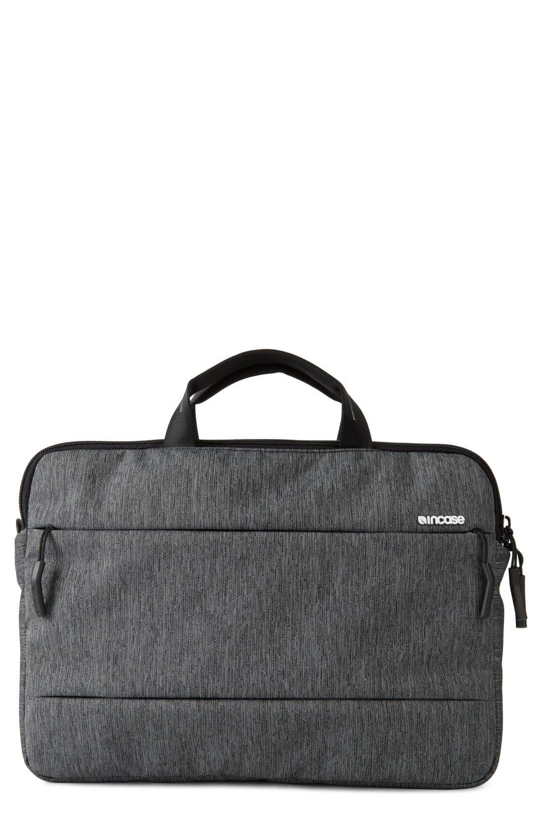 City Collection 13-Inch Briefcase,                         Main,                         color, HEATHER BLACK/ GUNMETAL GREY