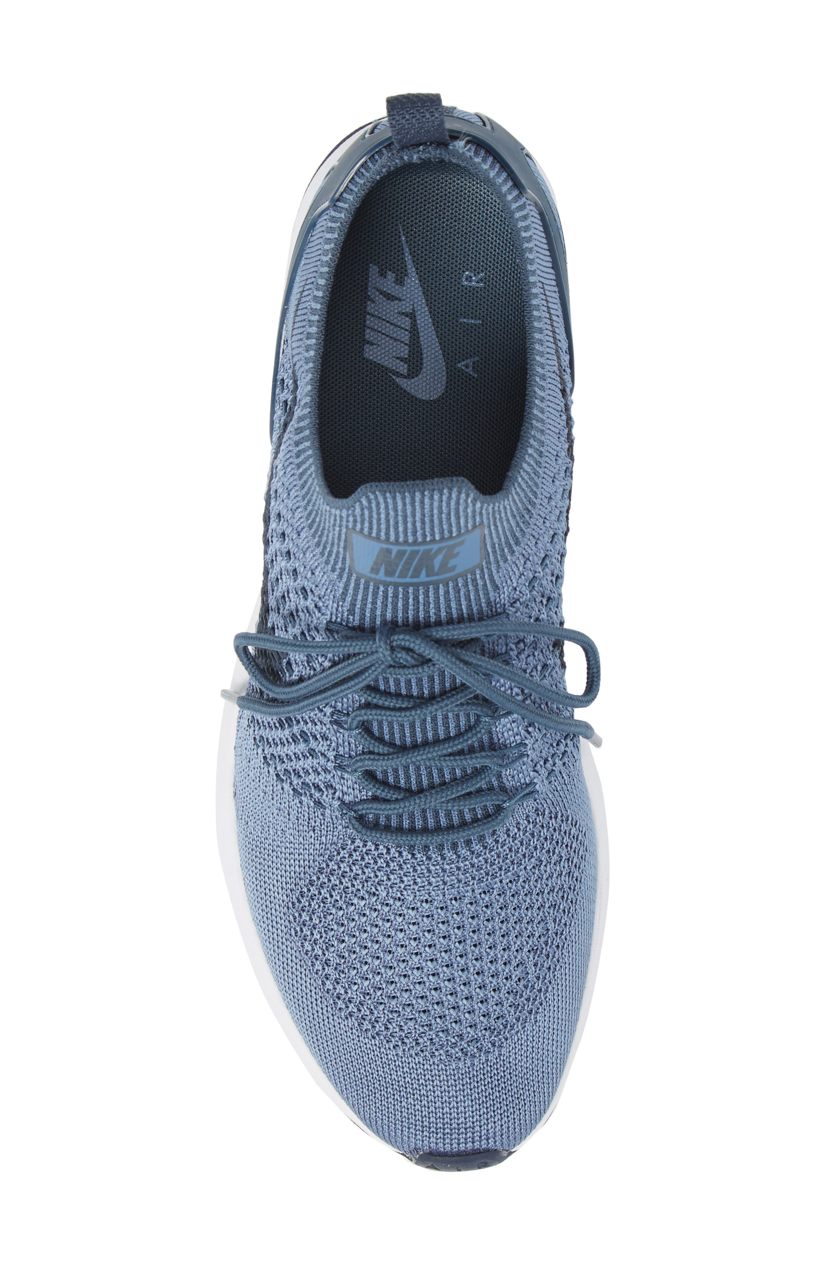 Air Zoom Mariah Flyknit Racer Sneaker,                             Alternate thumbnail 5, color,                             OCEAN FOG/ BLUE/ WHITE