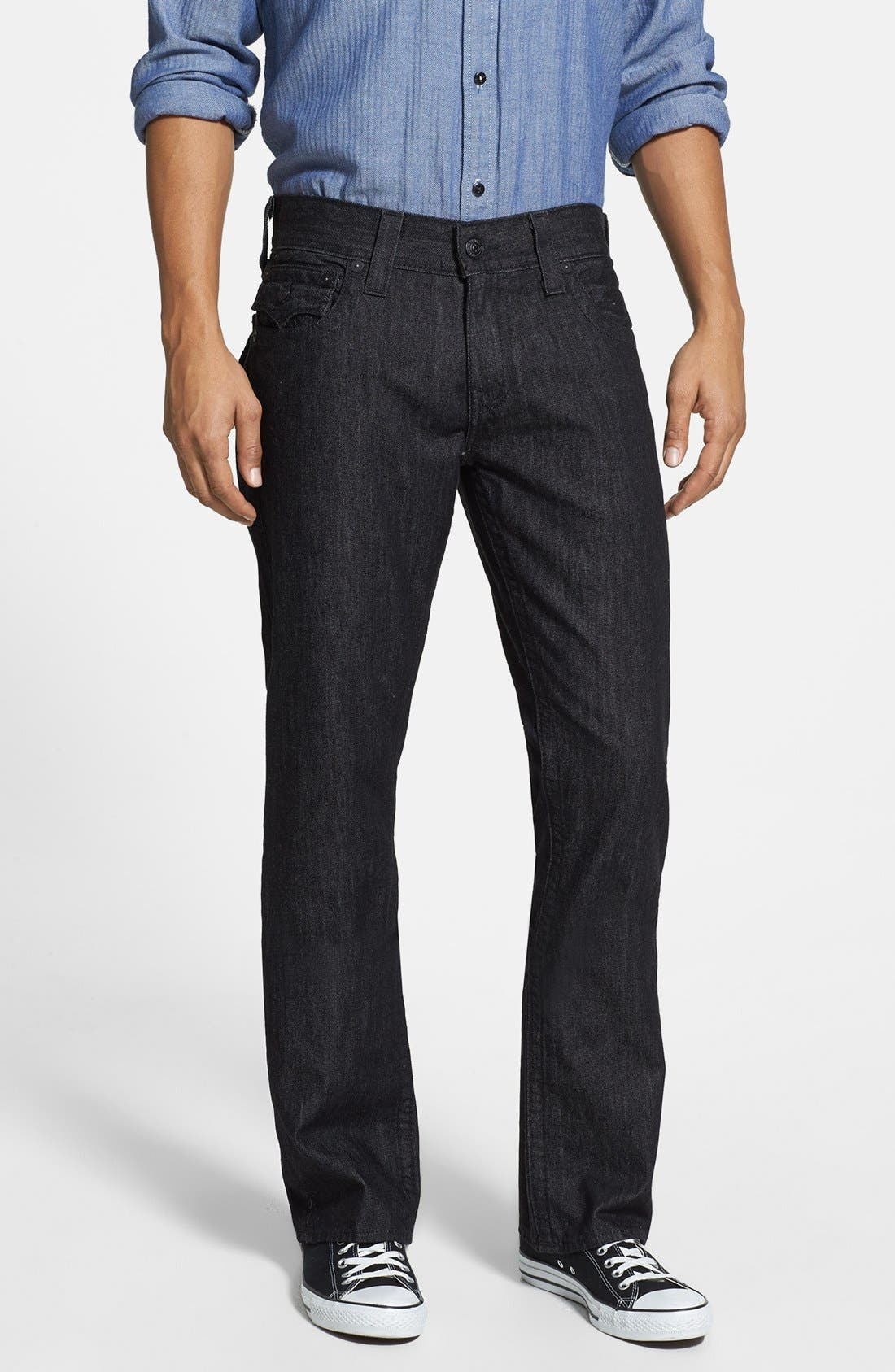 'Ricky' Relaxed Fit Jeans,                             Alternate thumbnail 4, color,                             001