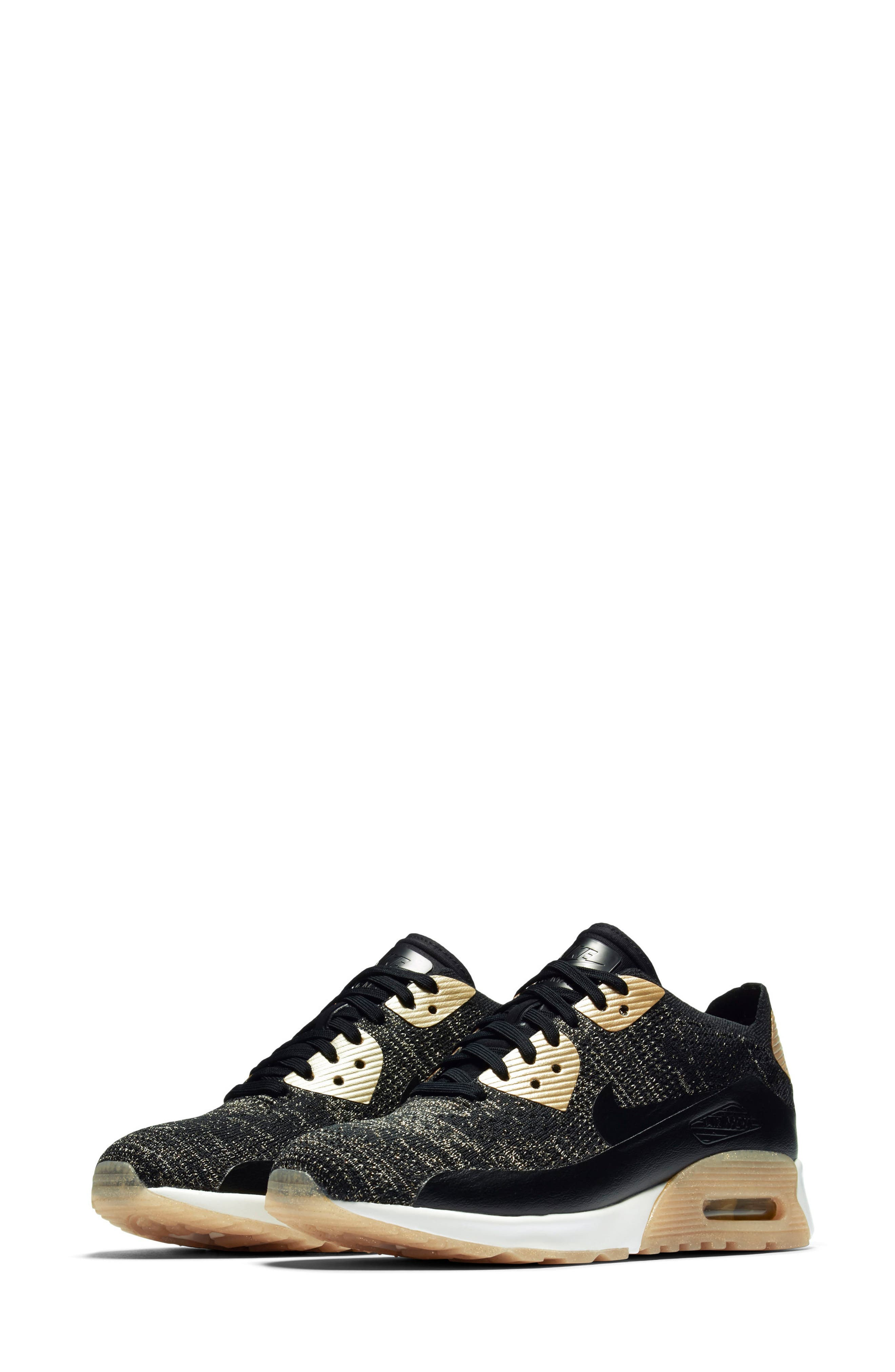 Air Max 90 Ultra 2.0 Flyknit Metallic Sneaker, Main, color, 001