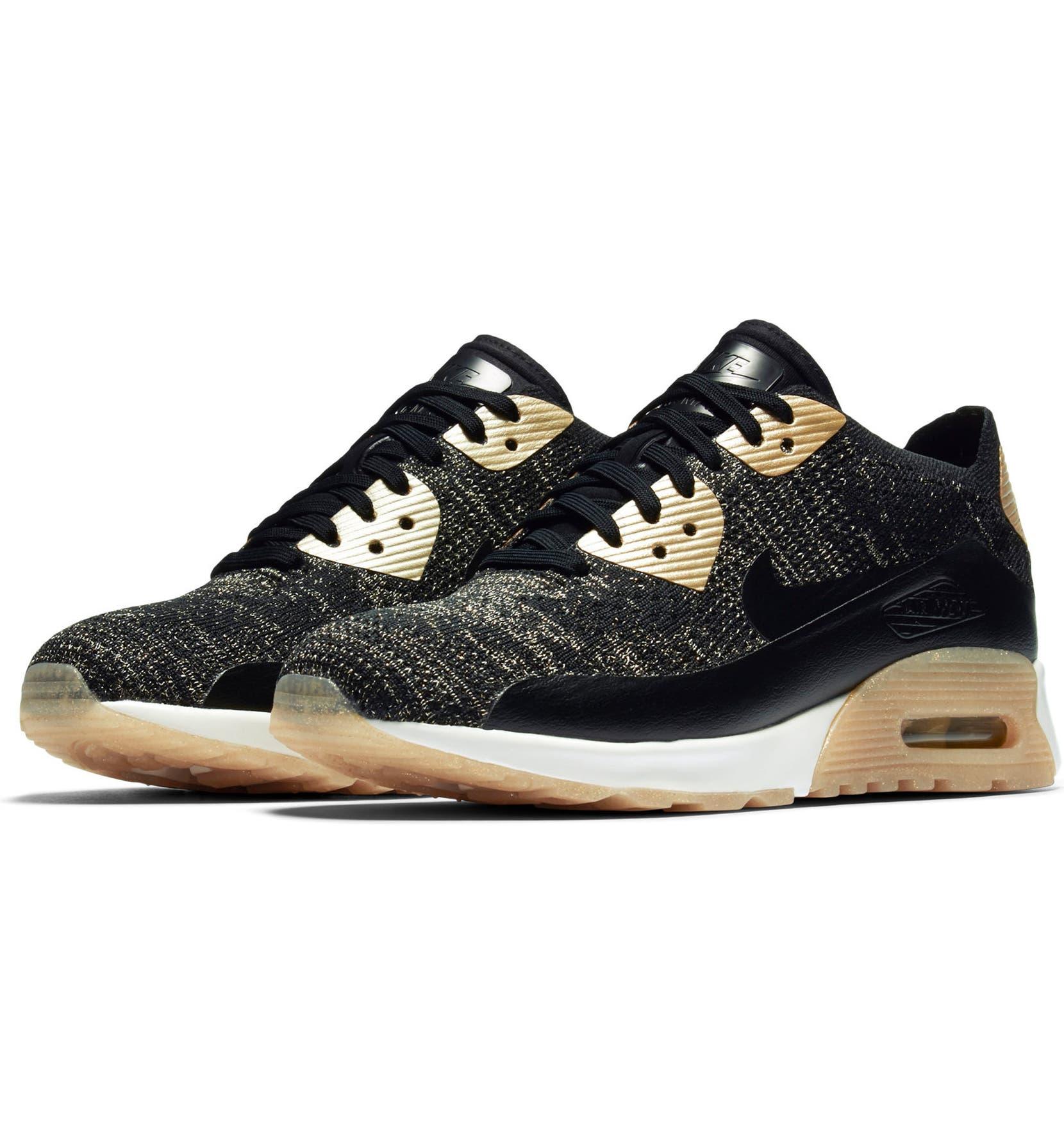 Nike Air Max 90 Ultra 2.0 Flyknit Metallic Sneaker (Women)  807d6efee