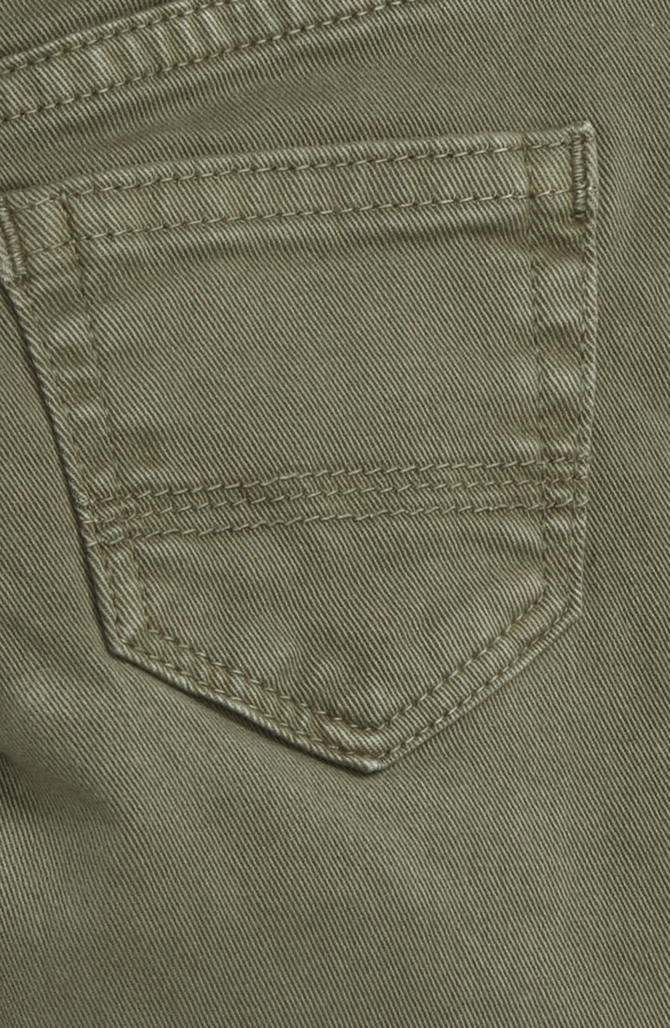 Peek Slouch Twill Jeans,                             Alternate thumbnail 3, color,                             OLIVE