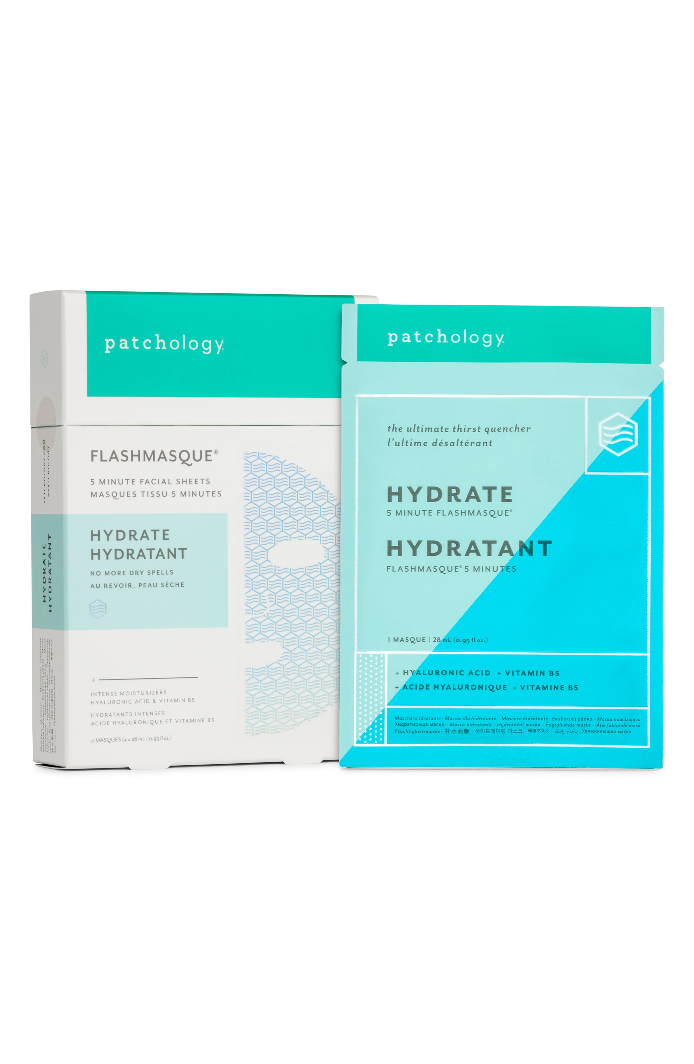 FlashMasque<sup>®</sup> Hydrate 5-Minute Facial Sheet Mask,                             Alternate thumbnail 2, color,                             NO COLOR