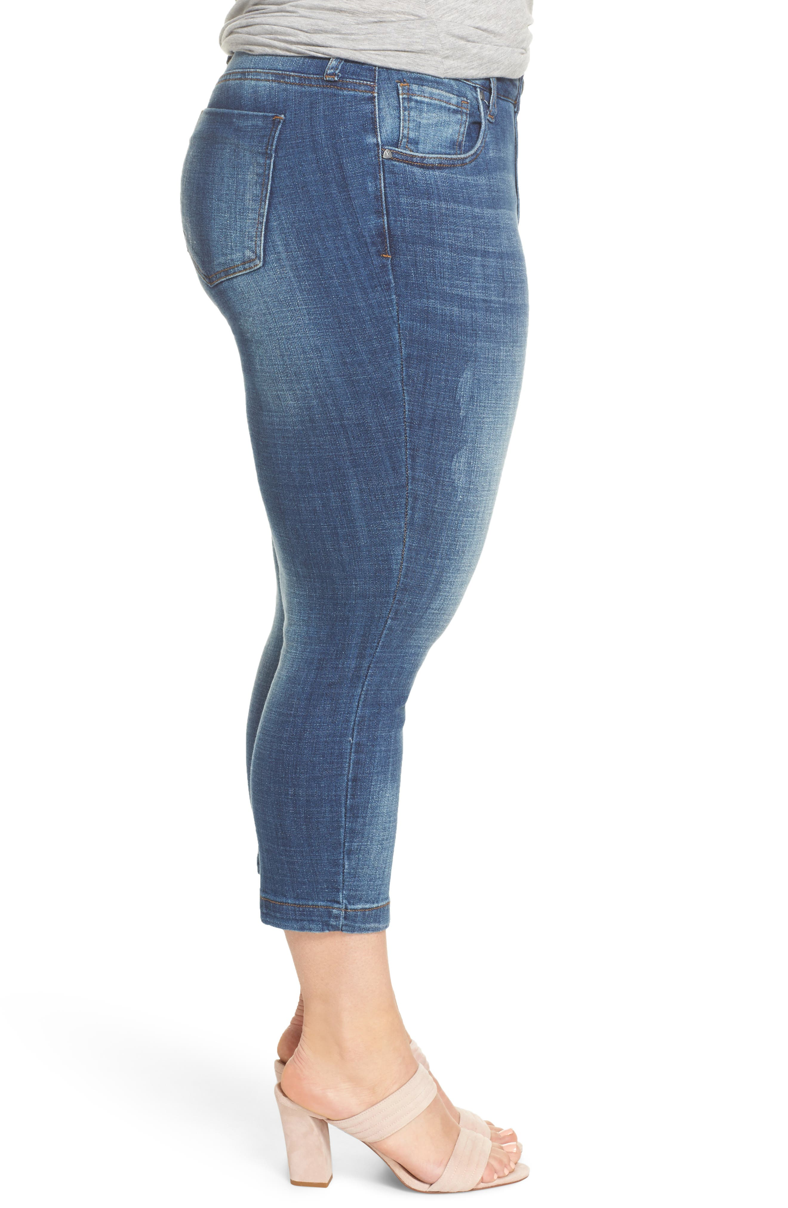 Lauren Crop Jeans,                             Alternate thumbnail 3, color,                             ENTRUSTED