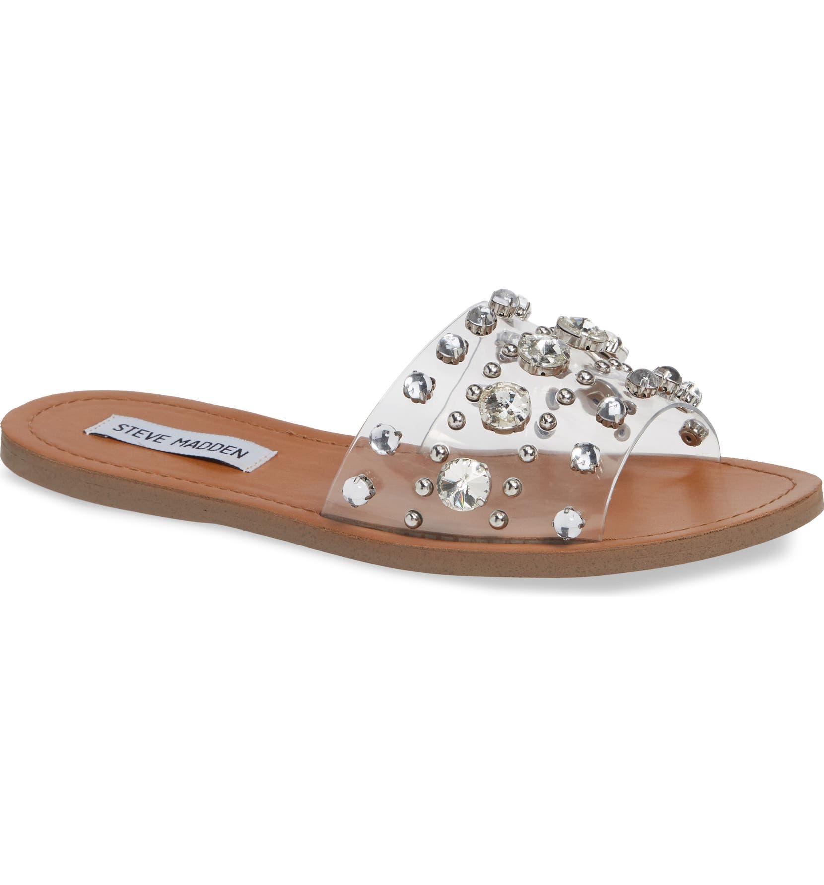 ae8f7e809c2 Steve Madden Regent Embellished Slide Sandal (Women)