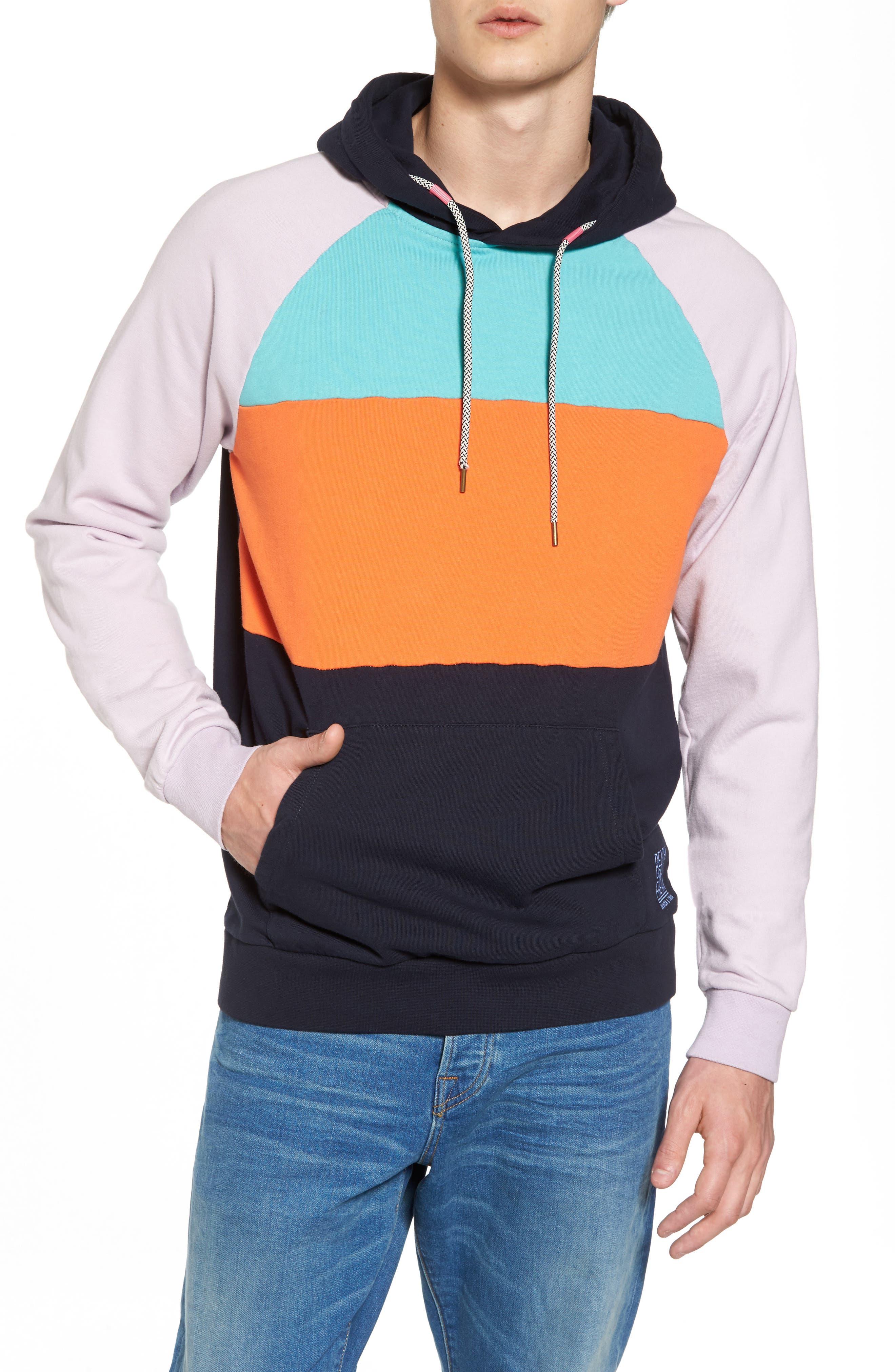 Summer Colorblock Hoodie Sweatshirt,                             Main thumbnail 1, color,                             100