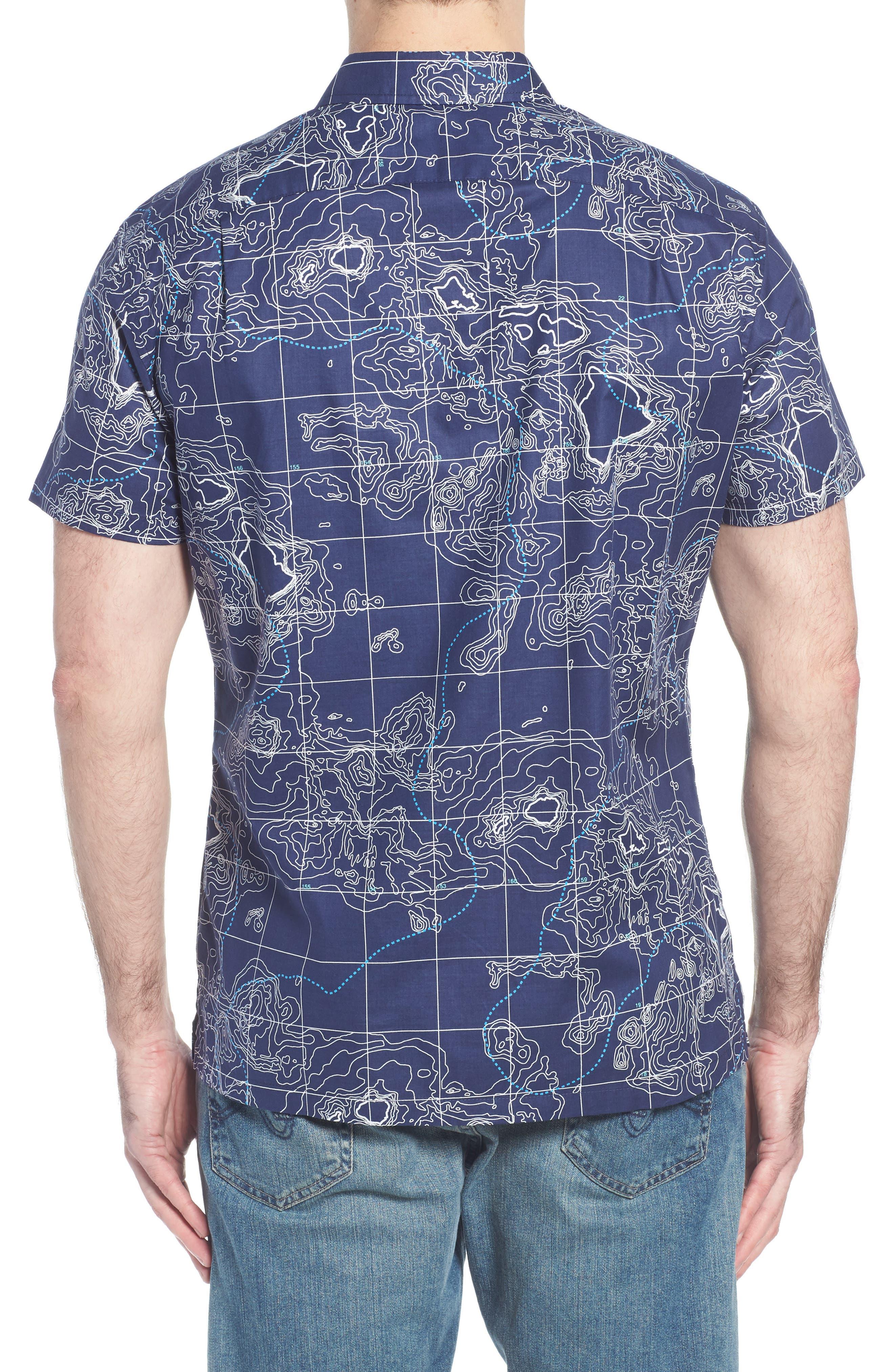 21N 158W Trim Fit Camp Shirt,                             Alternate thumbnail 2, color,                             NAVY