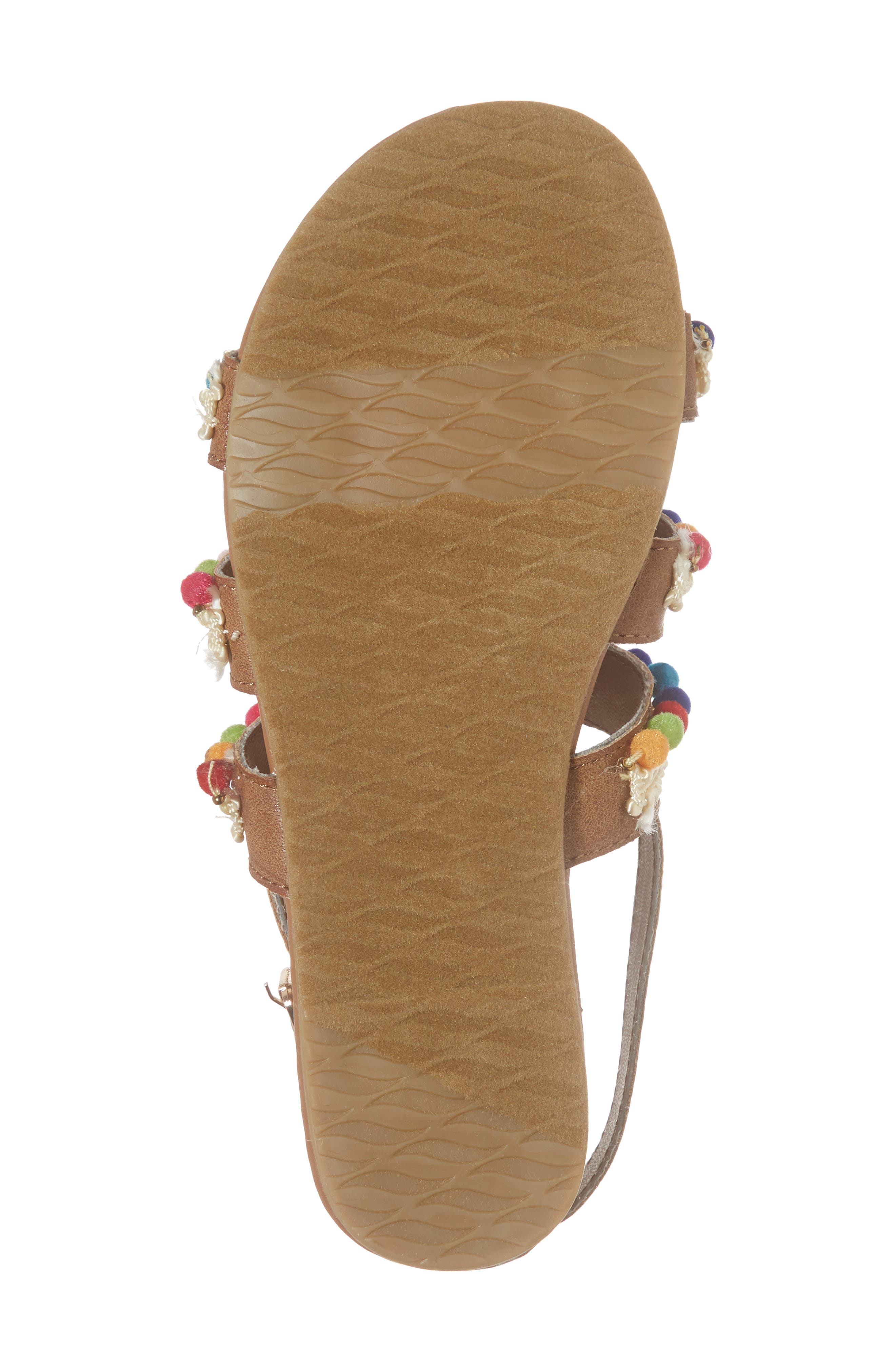 Kiera Pom Embellished Sandal,                             Alternate thumbnail 6, color,                             259