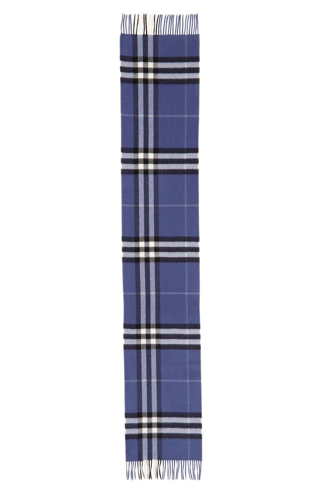 BURBERRY,                             Giant Check Cashmere Scarf,                             Alternate thumbnail 2, color,                             400
