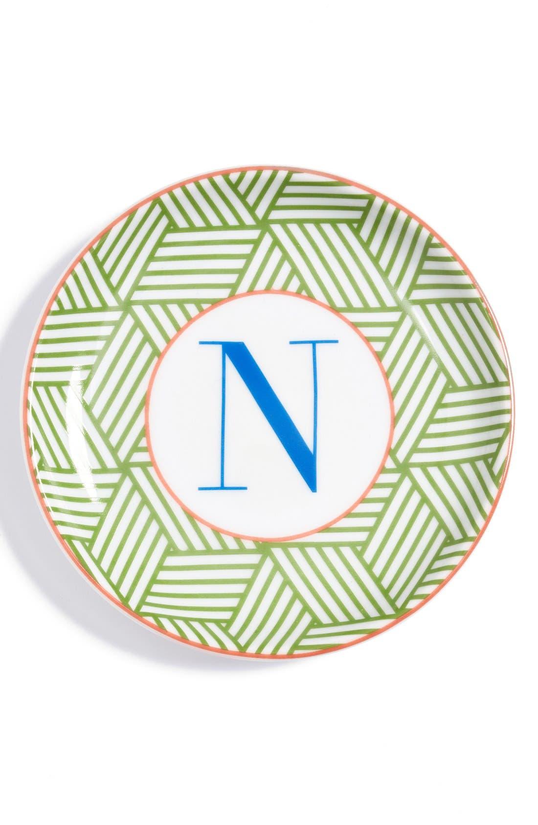 'L'Alphabet' Porcelain Tray,                             Main thumbnail 16, color,