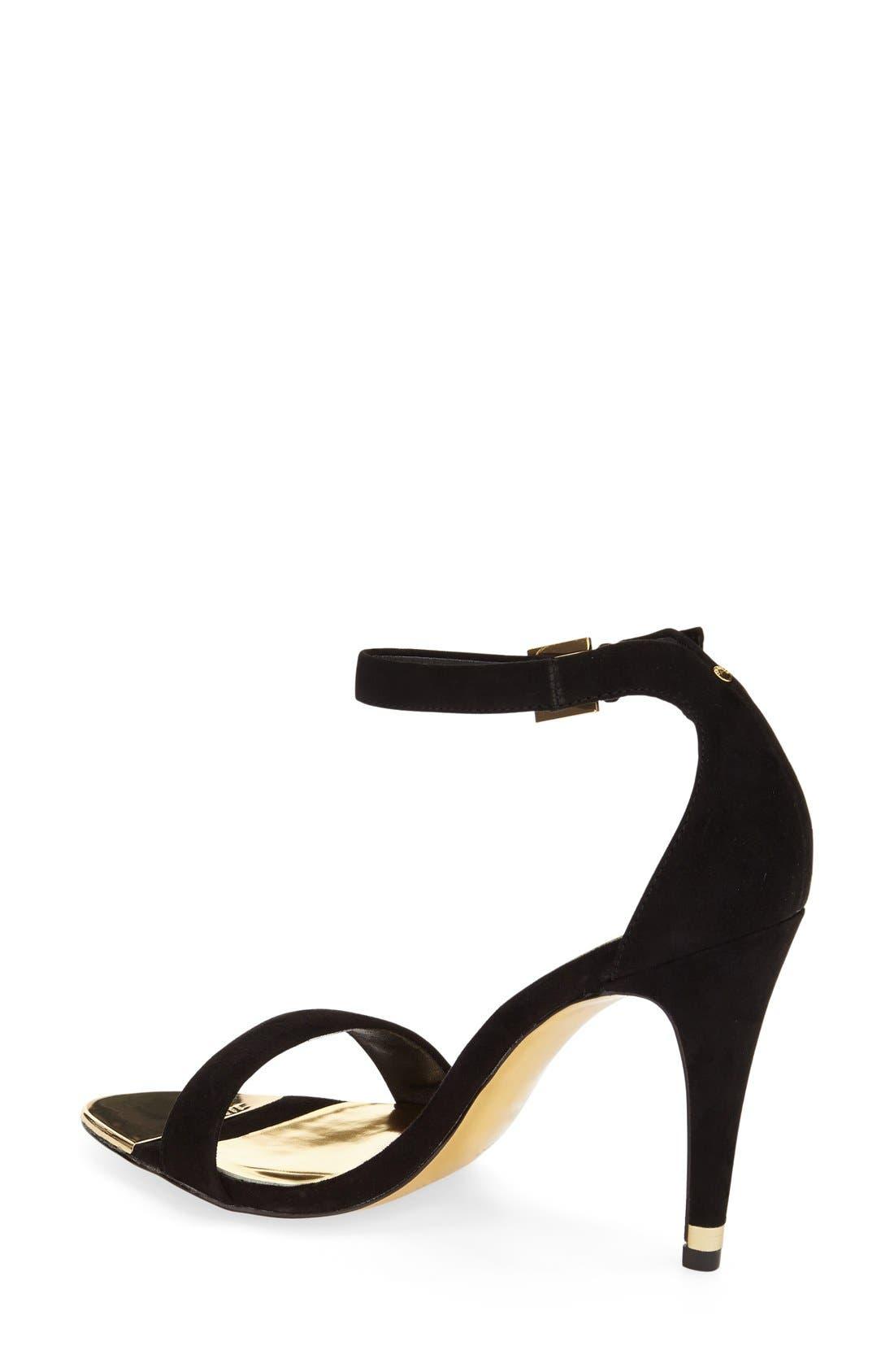'Juliennas' Leather Sandal,                             Alternate thumbnail 3, color,                             010