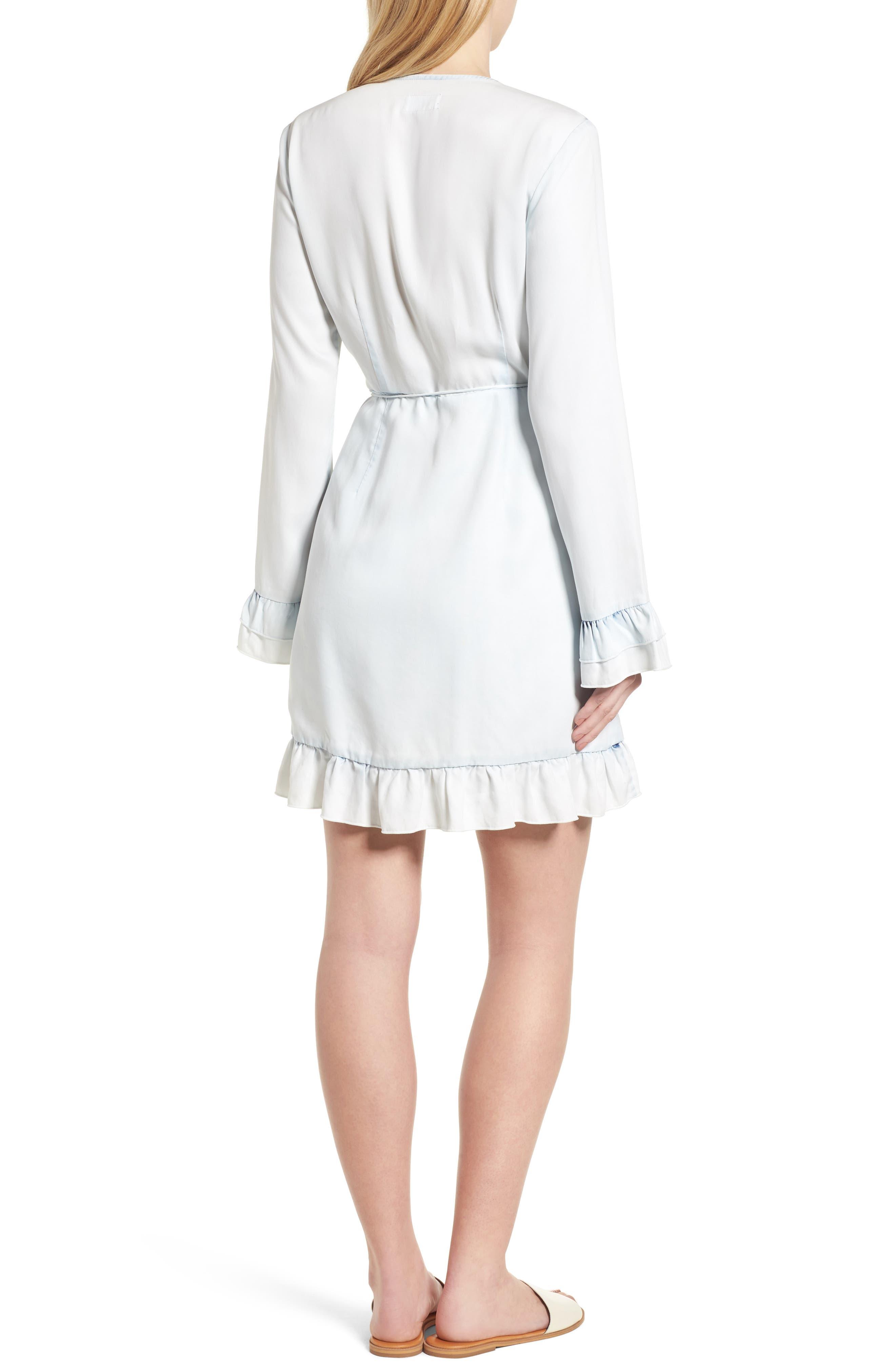 Ainsley Wrap Dress,                             Alternate thumbnail 2, color,                             IRREGULAR BLEACH
