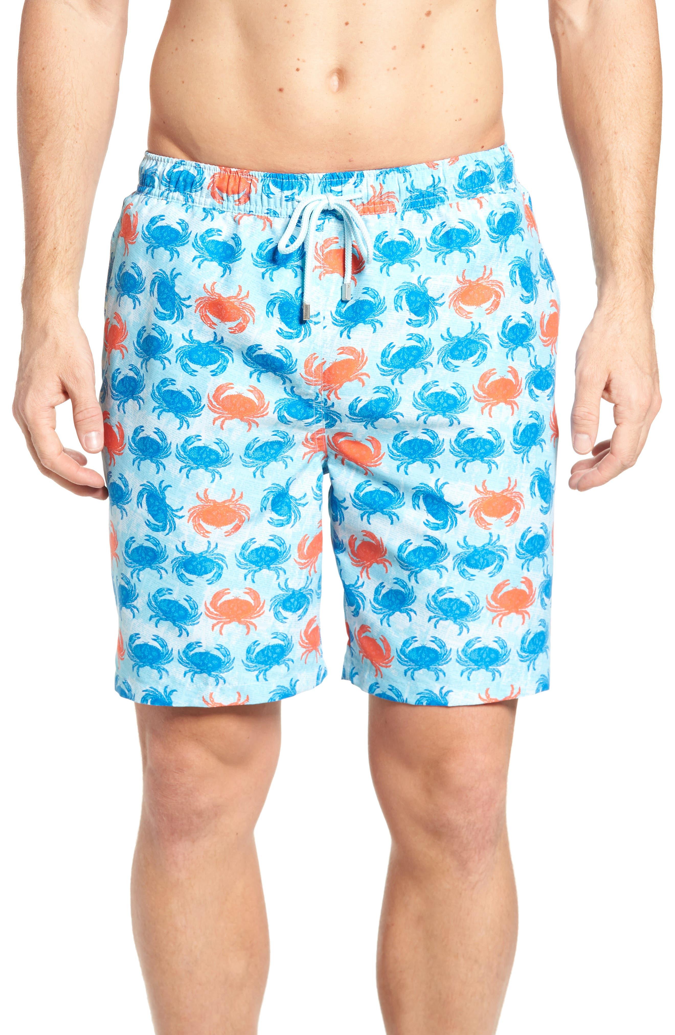 Crab Shack Swim Shorts,                             Main thumbnail 1, color,                             424