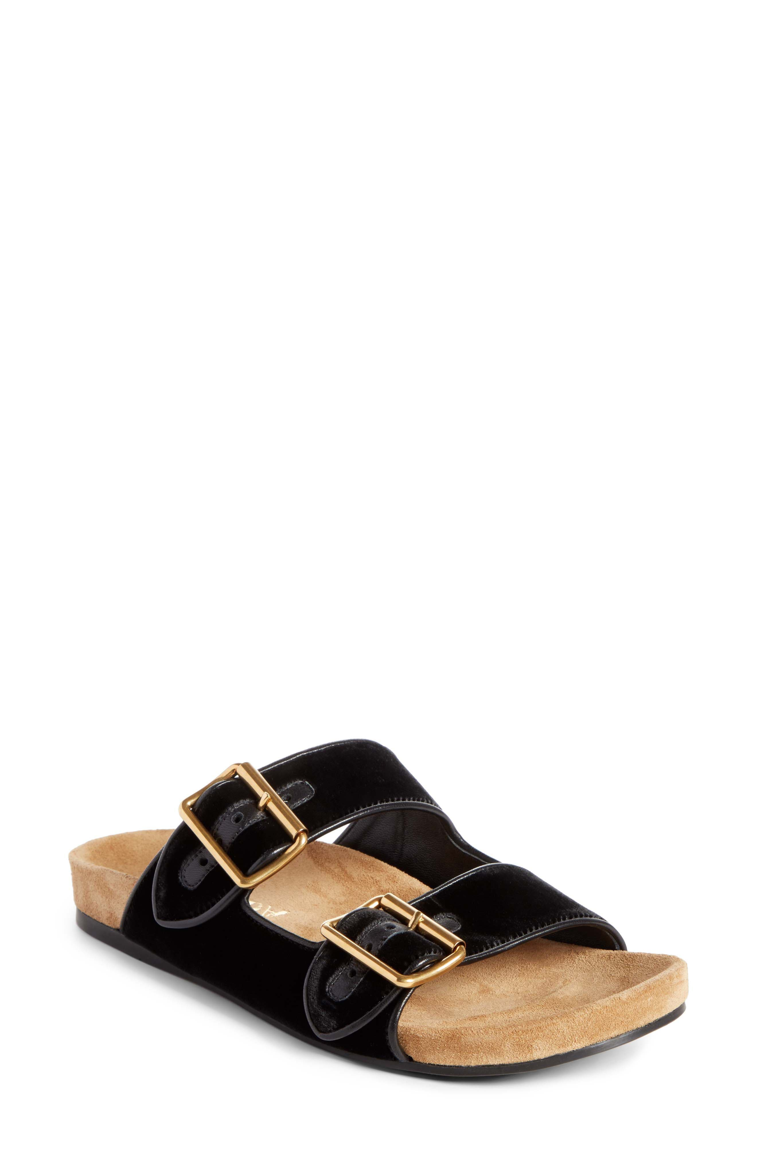 PRADA Slide Sandal, Main, color, 001