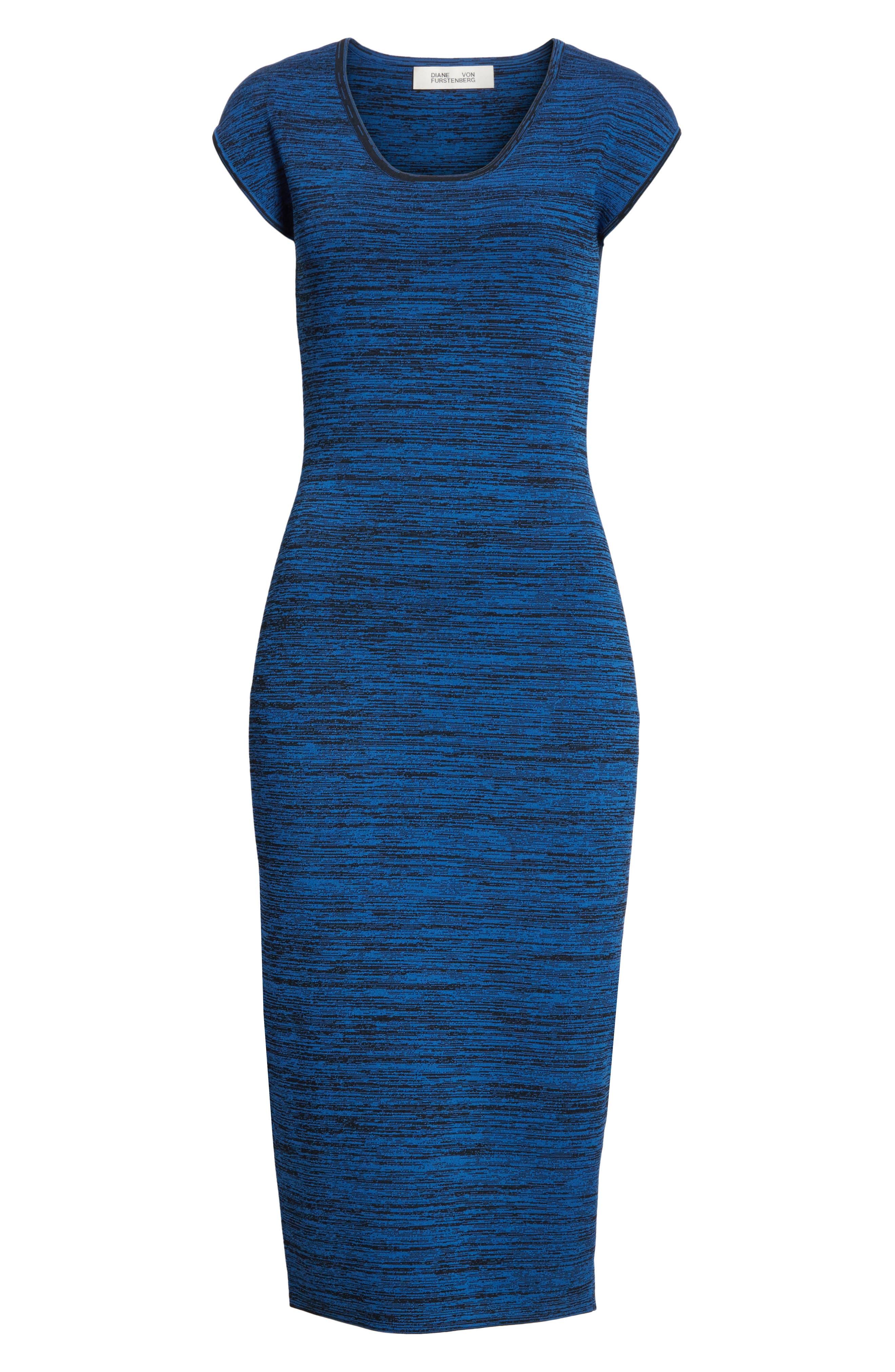 Diane von Furstenberg Sweater Dress,                             Alternate thumbnail 6, color,                             429