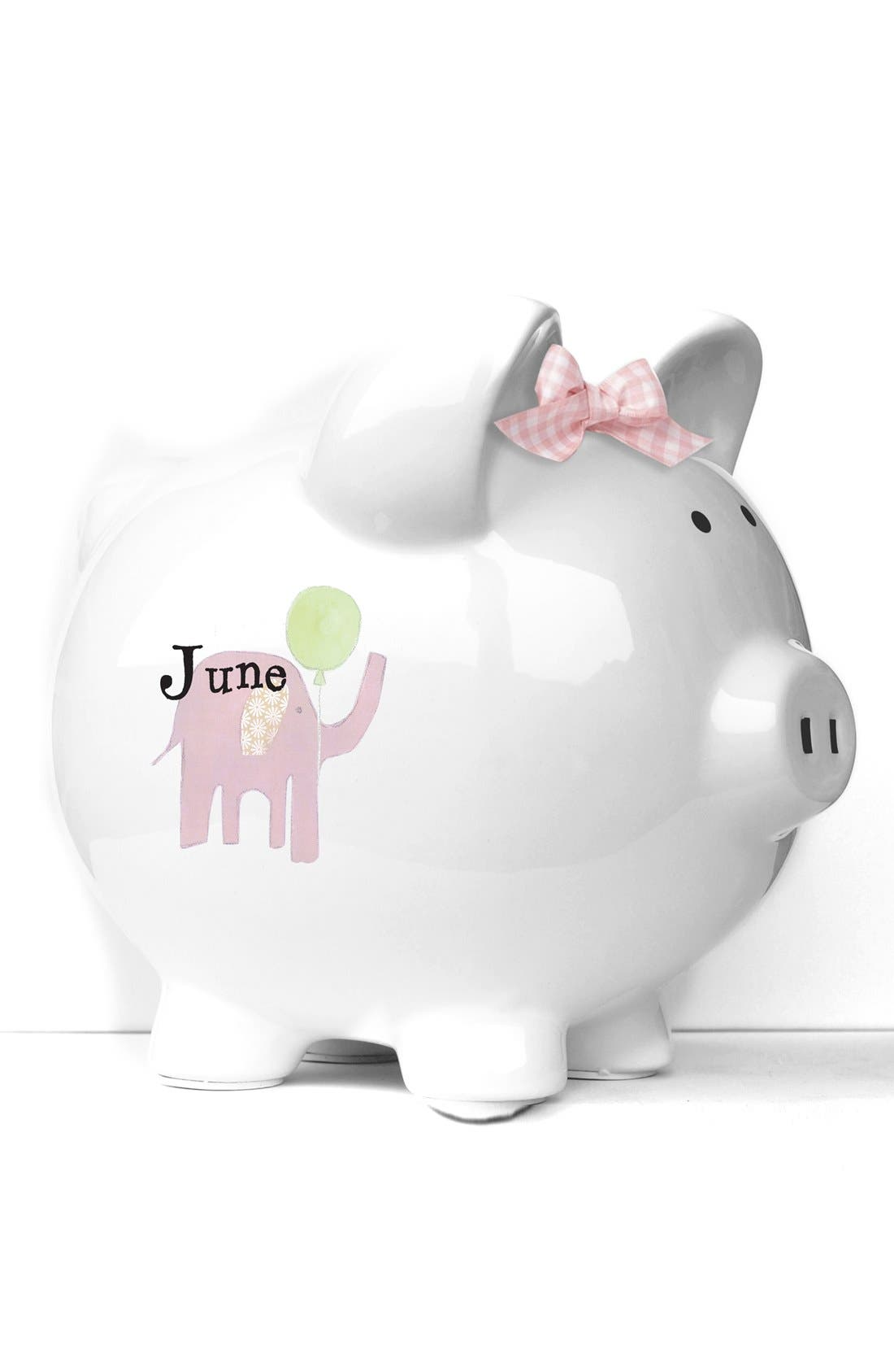 'Elephant' Personalized Piggy Bank, Main, color, 650
