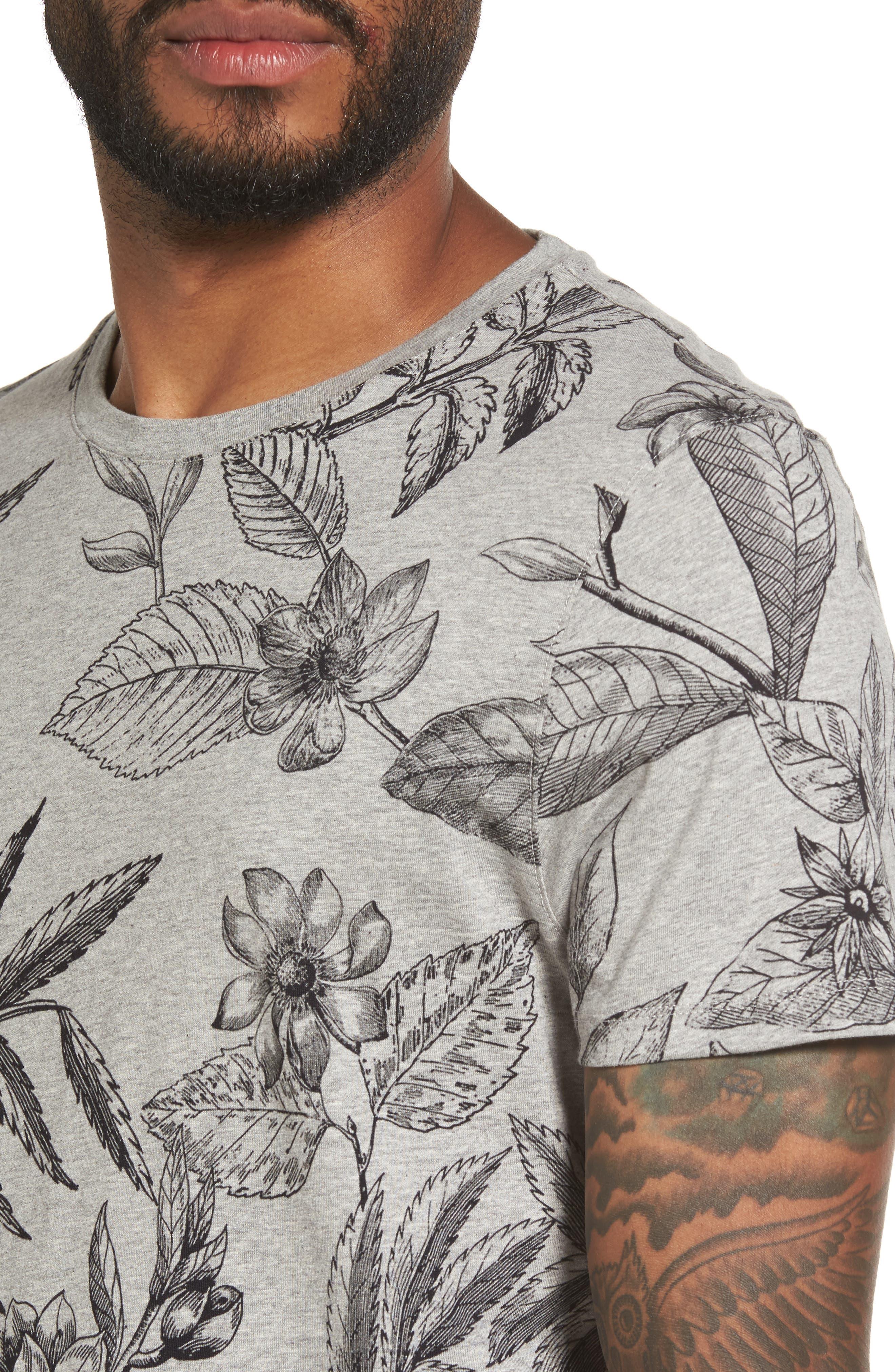 Peggi Floral Print T-Shirt,                             Alternate thumbnail 4, color,