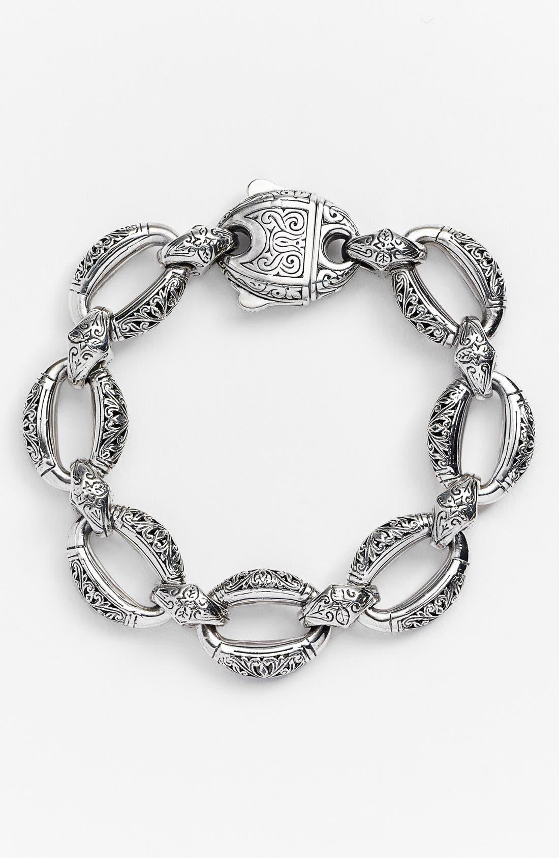 'Classics - Daphne' Link Bracelet,                             Main thumbnail 1, color,                             SILVER