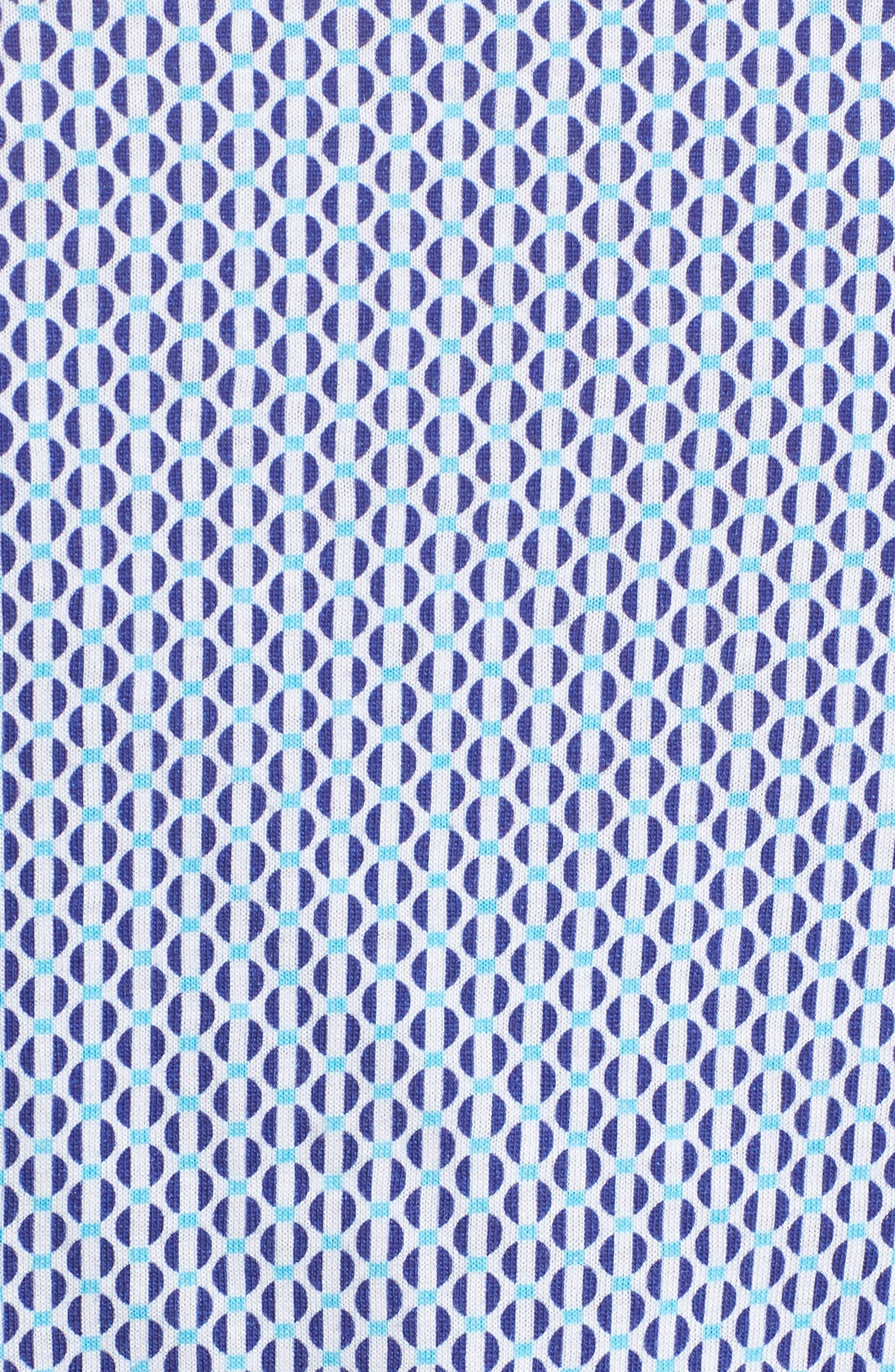Contemporary Fit Geometric Print Sport Shirt,                             Alternate thumbnail 5, color,                             439
