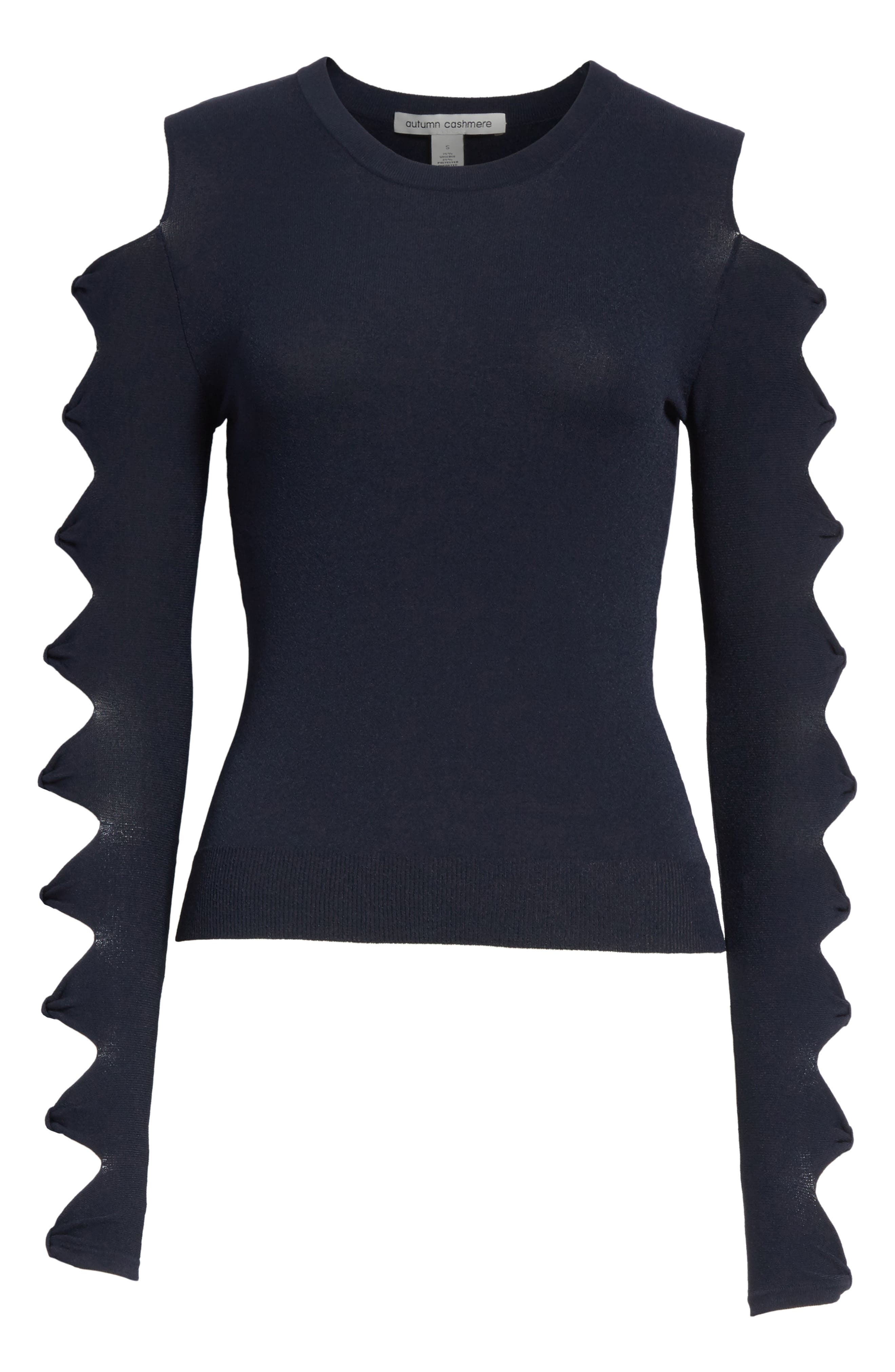 Open Bow Sleeve Sweater,                             Alternate thumbnail 6, color,                             454