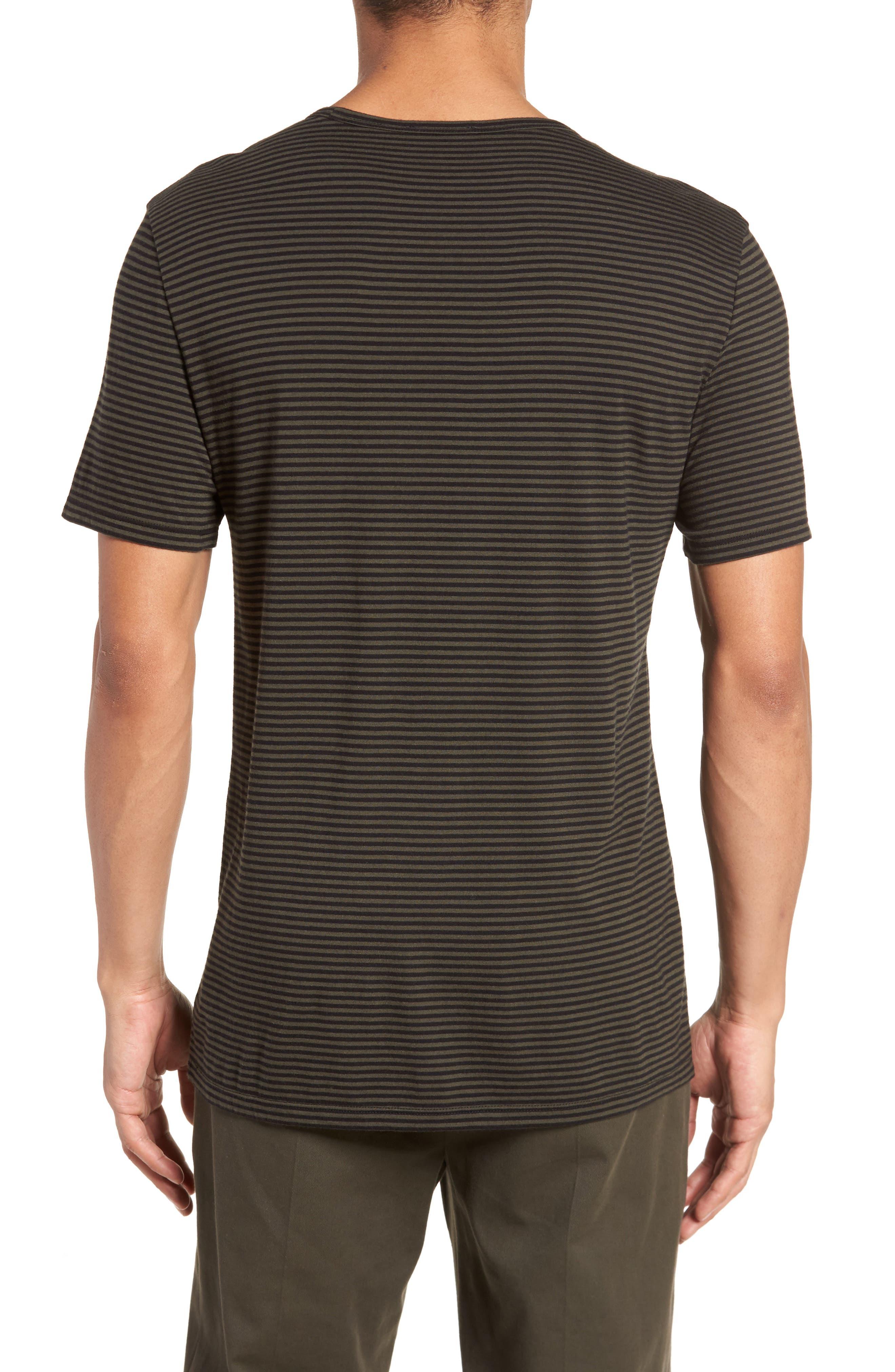 Feeder Stripe Long Sleeve Shirt,                             Alternate thumbnail 4, color,