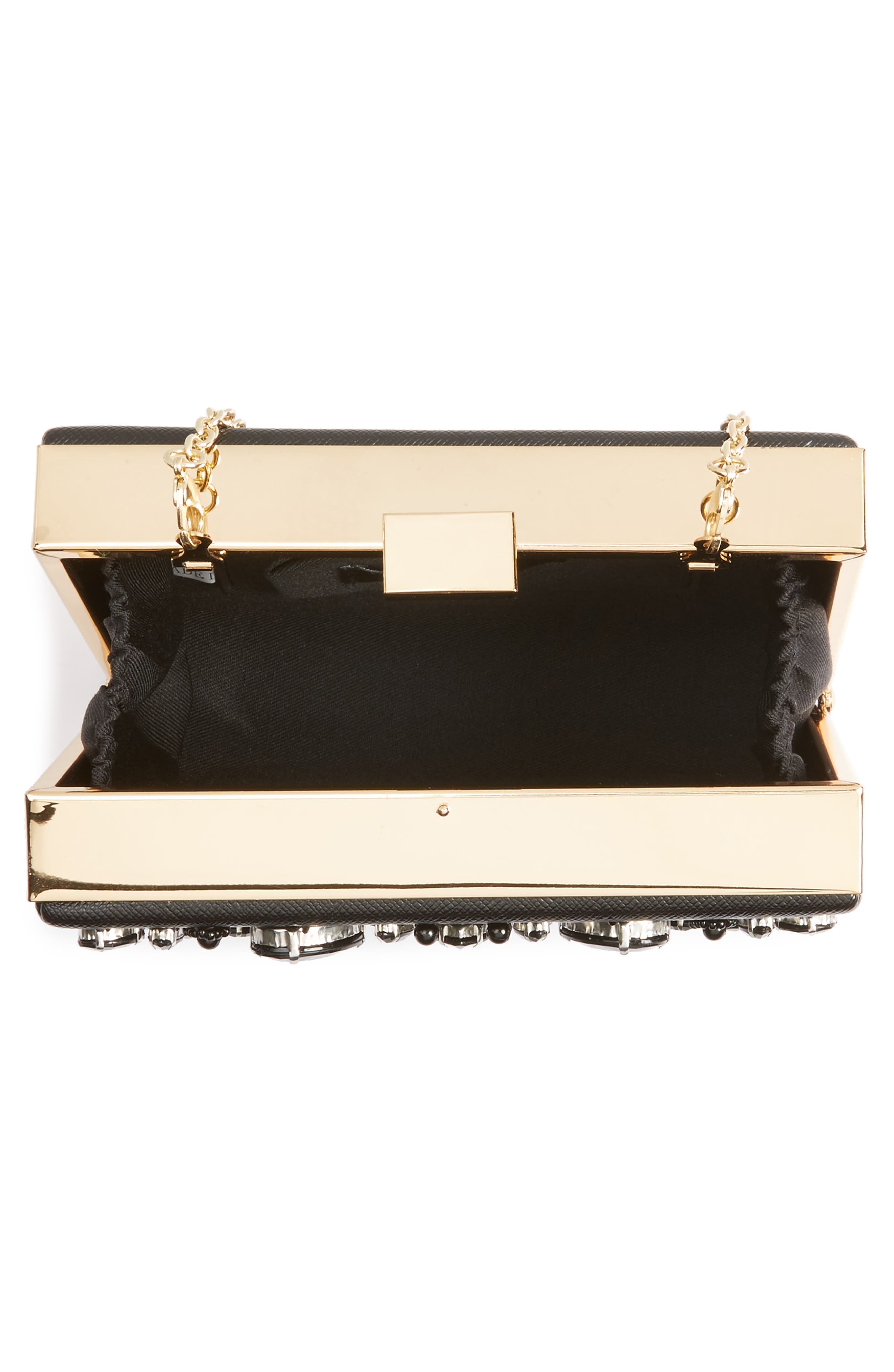Crystal Box Clutch,                             Alternate thumbnail 4, color,                             001