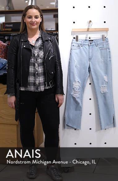 Ripped Step Hem Jeans, sales video thumbnail