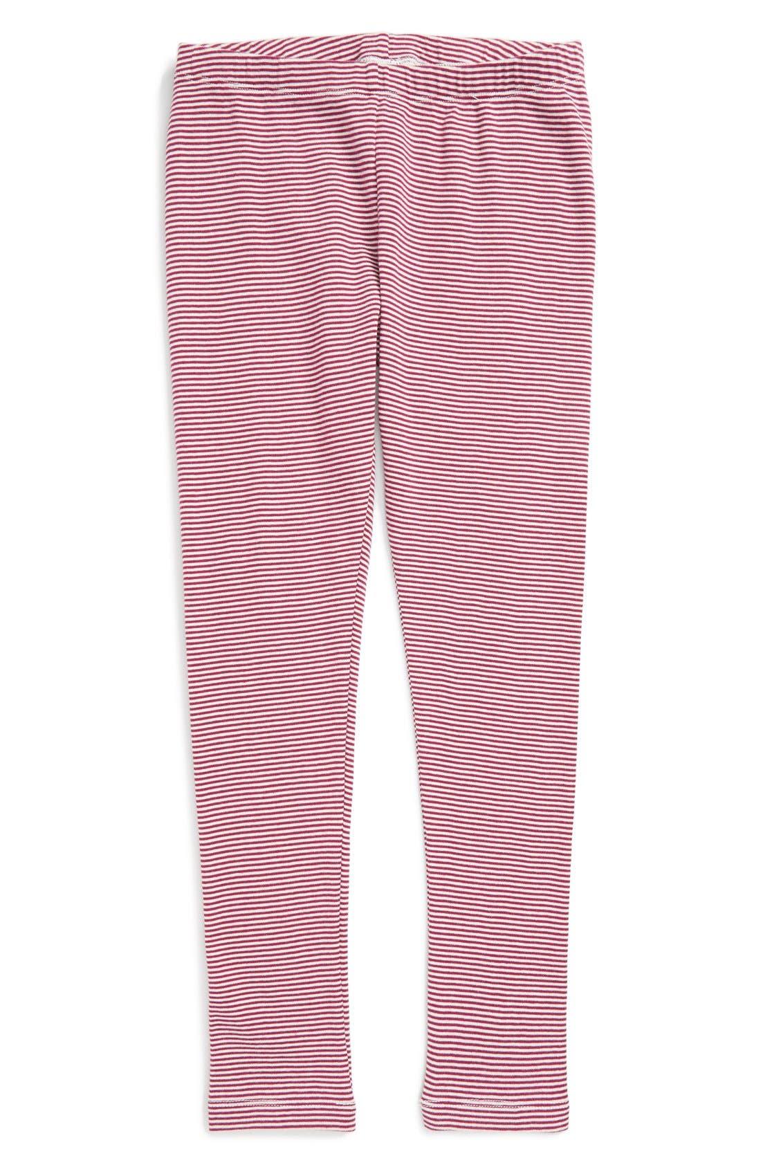 Stripe Cotton Leggings,                             Main thumbnail 5, color,