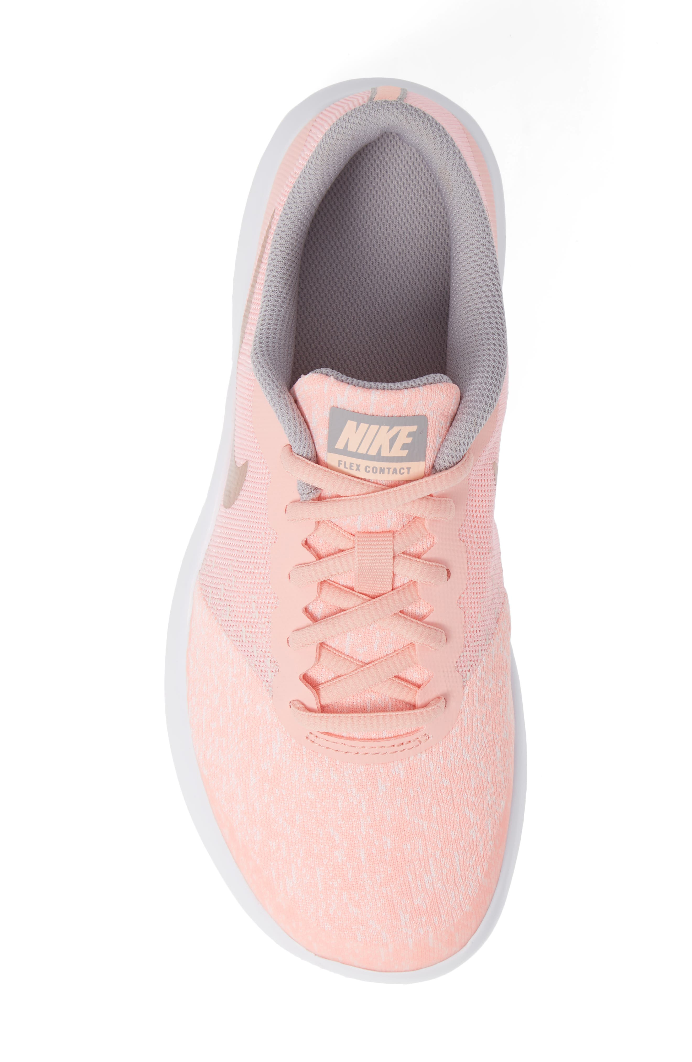 Flex Contact Running Shoe,                             Alternate thumbnail 5, color,                             ROSE GOLD/ STORM PINK
