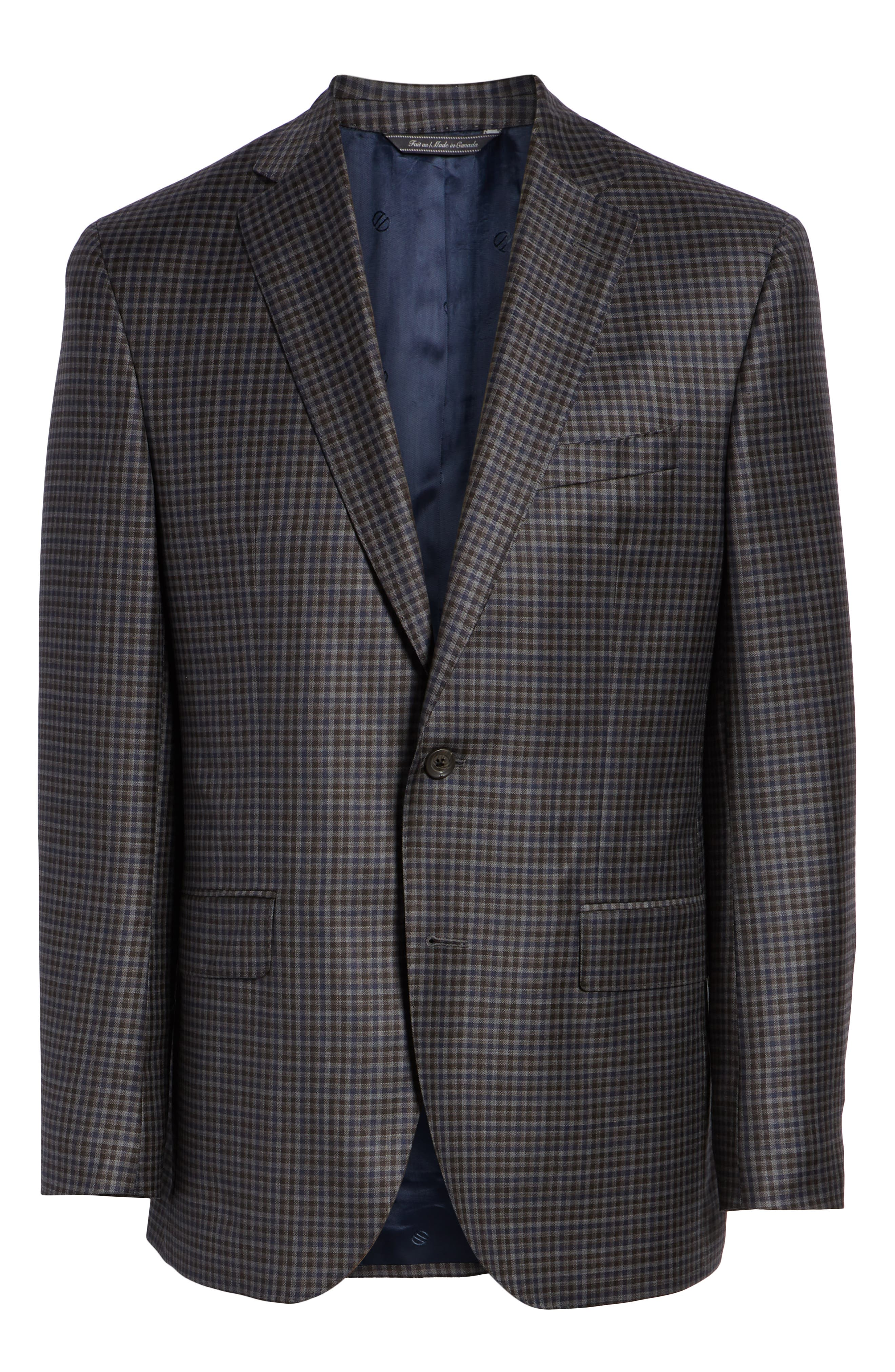 Connor Classic Fit Check Wool Sport Coat,                             Alternate thumbnail 5, color,                             020