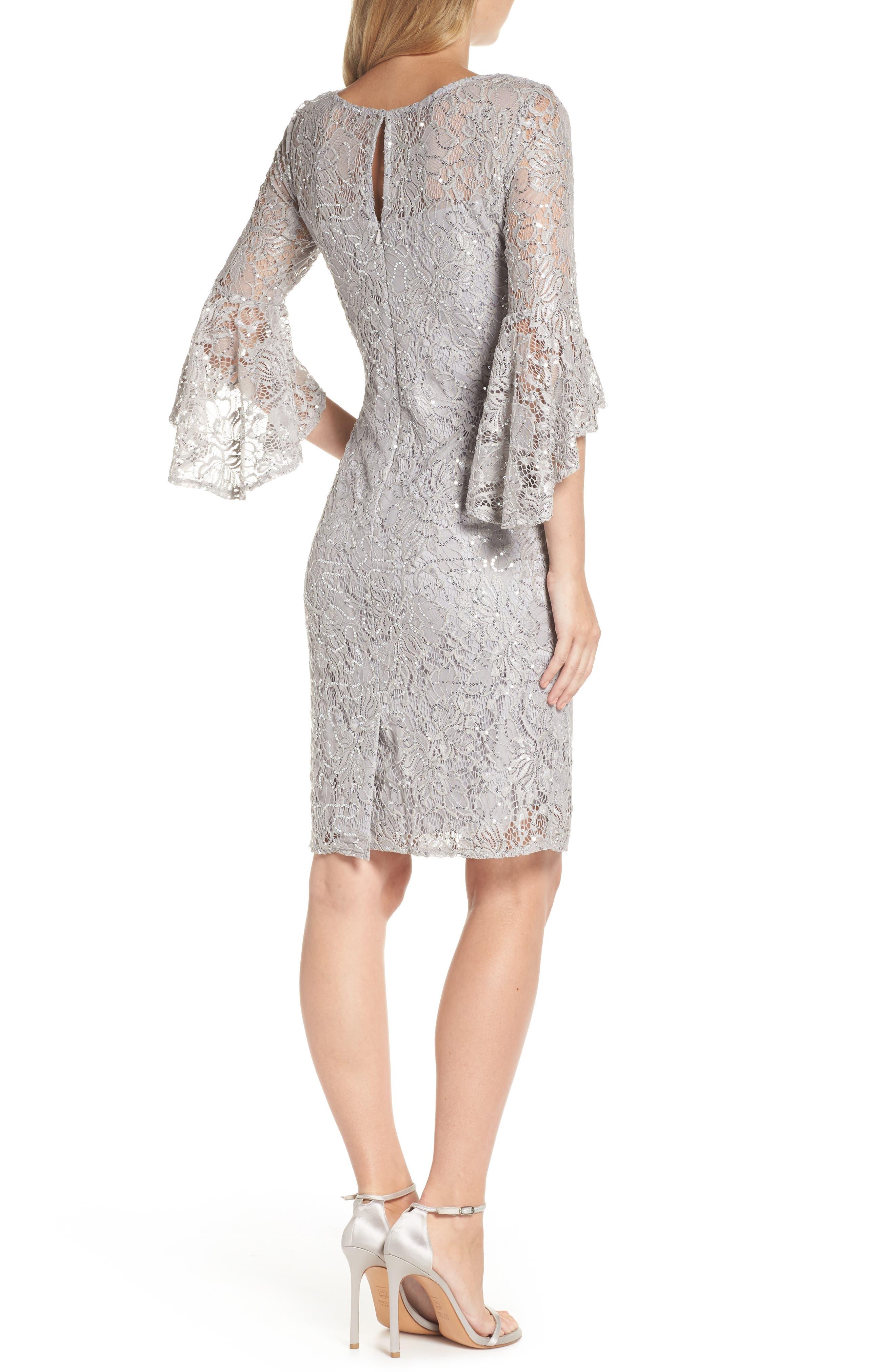 MORGAN & CO.,                             Lace Sheath Dress,                             Alternate thumbnail 2, color,                             040