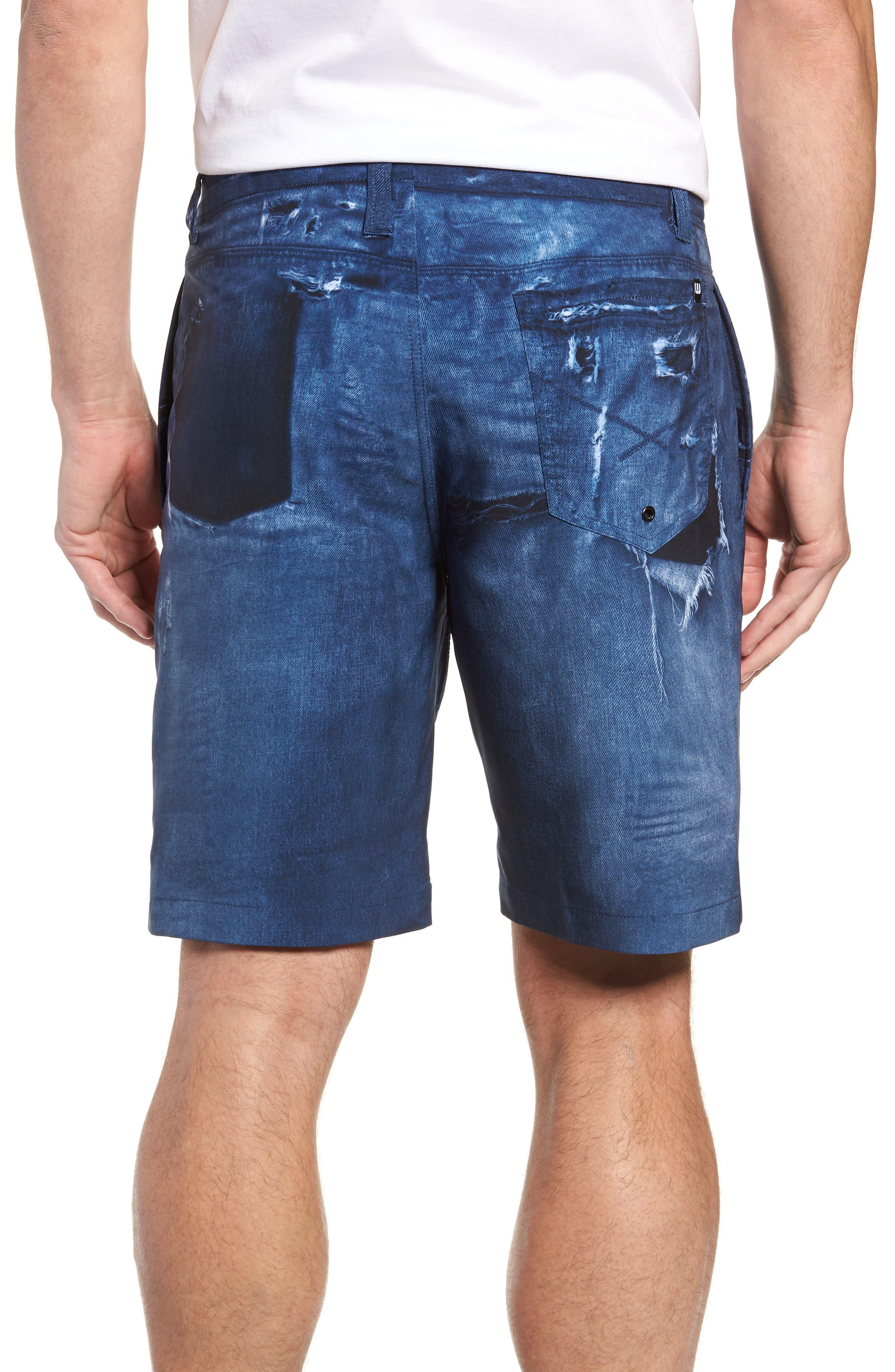 Man o' War Regular Fit Shorts,                             Alternate thumbnail 2, color,                             DENIM