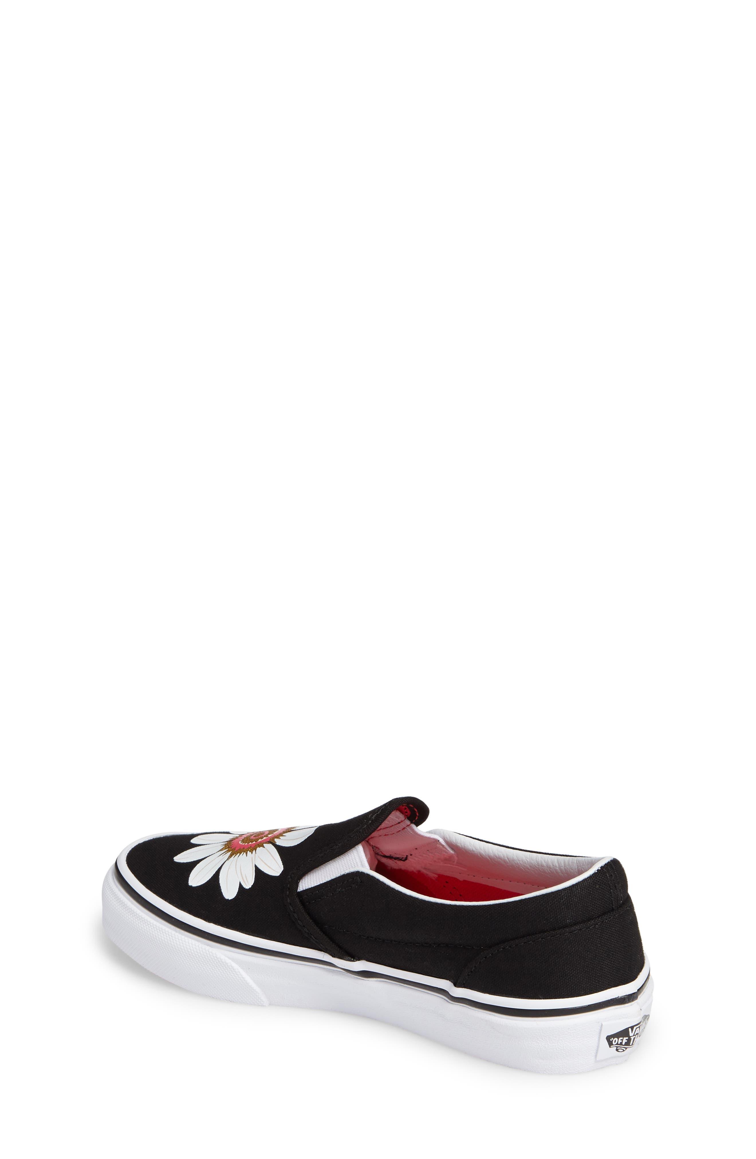 Classic Flower Slip-On Sneaker,                             Alternate thumbnail 2, color,                             001