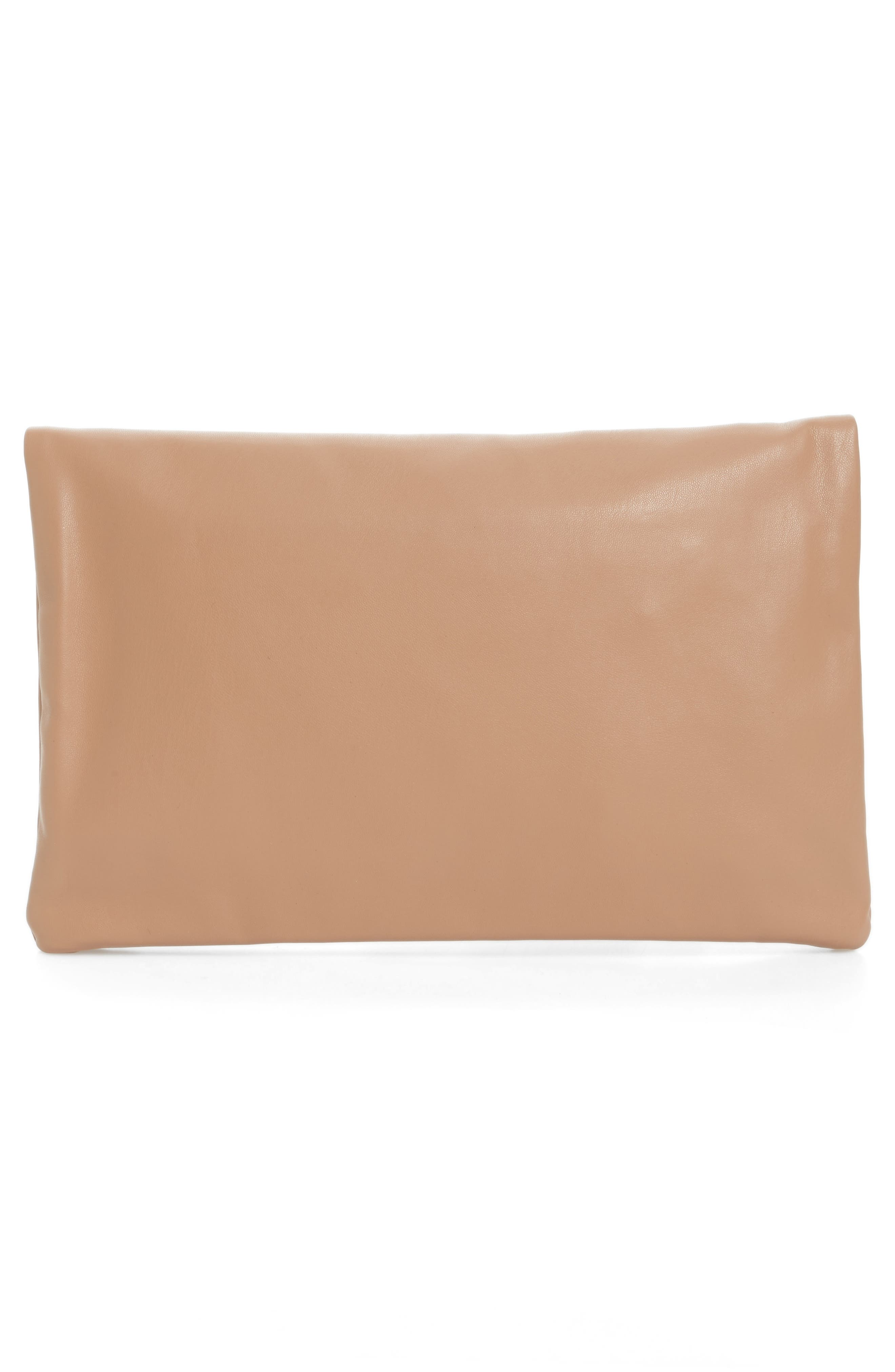 Melrose Faux Leather Clutch,                             Alternate thumbnail 9, color,