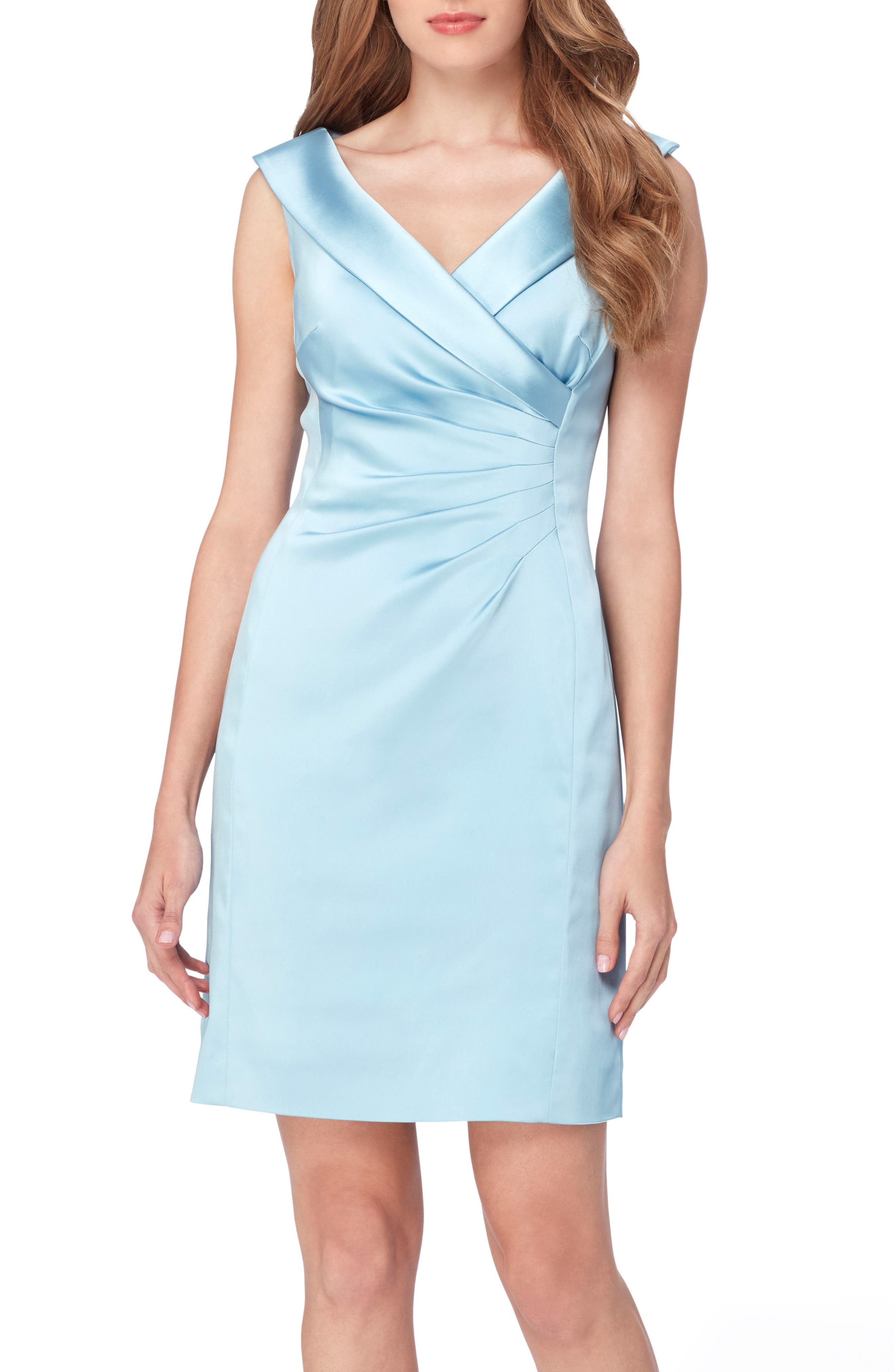 Satin Sheath Dress,                         Main,                         color, 404